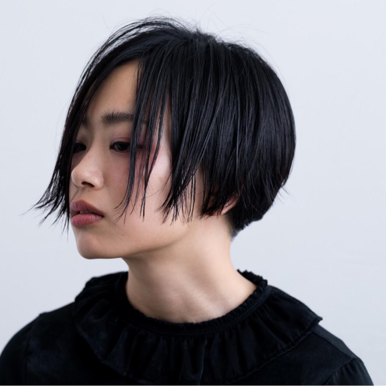 ショート ストレート ジェンダーレス ナチュラル ヘアスタイルや髪型の写真・画像 | Emiko Nakanishi / MAULOA