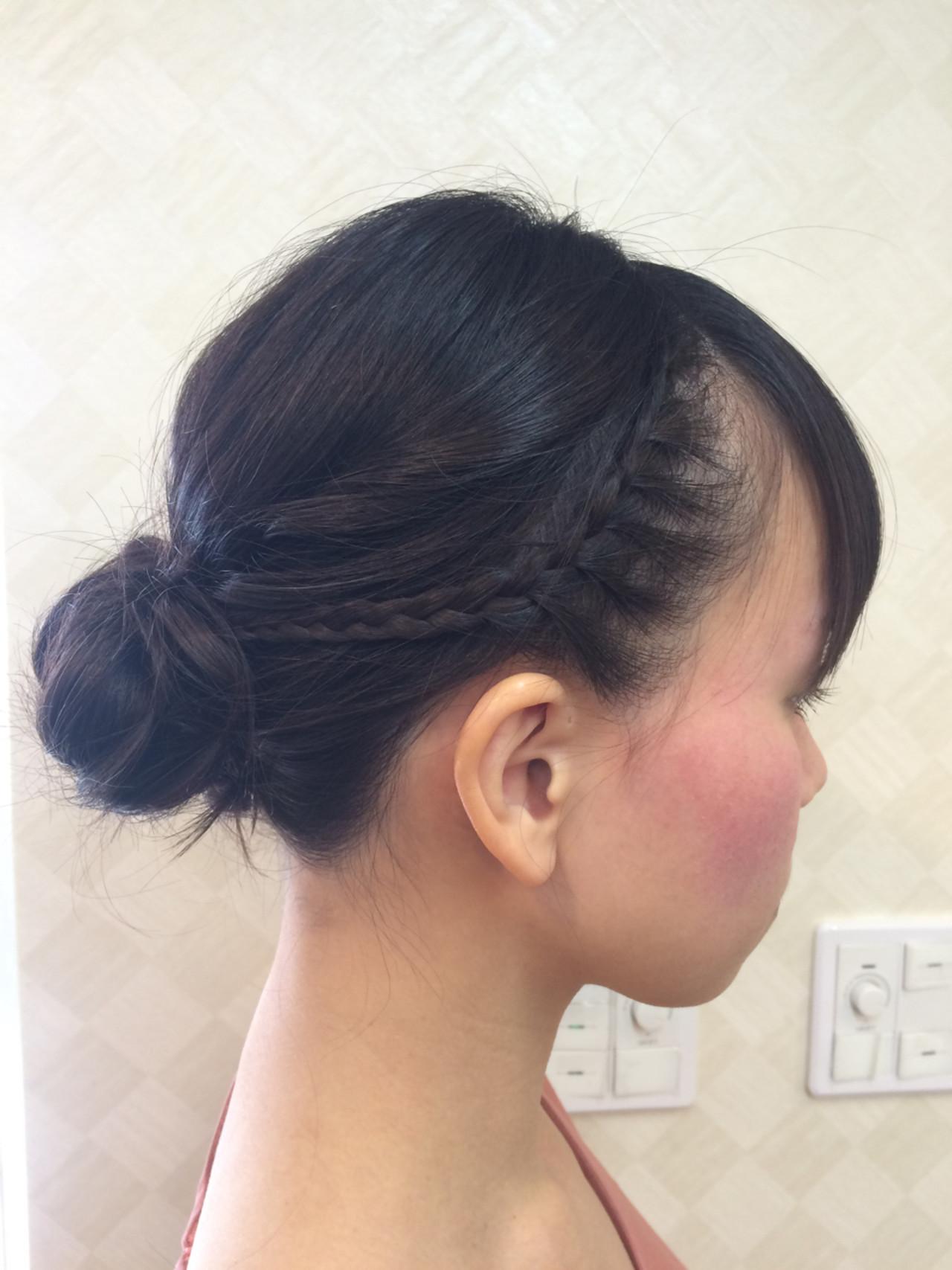 謝恩会 まとめ髪 簡単ヘアアレンジ ボブ ヘアスタイルや髪型の写真・画像