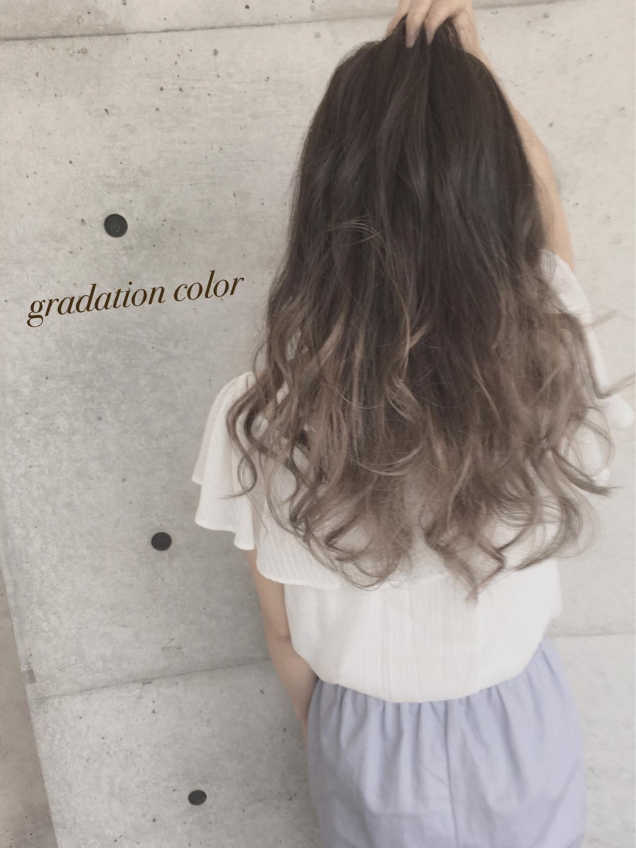 渋谷系 アッシュ ロング 外国人風 ヘアスタイルや髪型の写真・画像