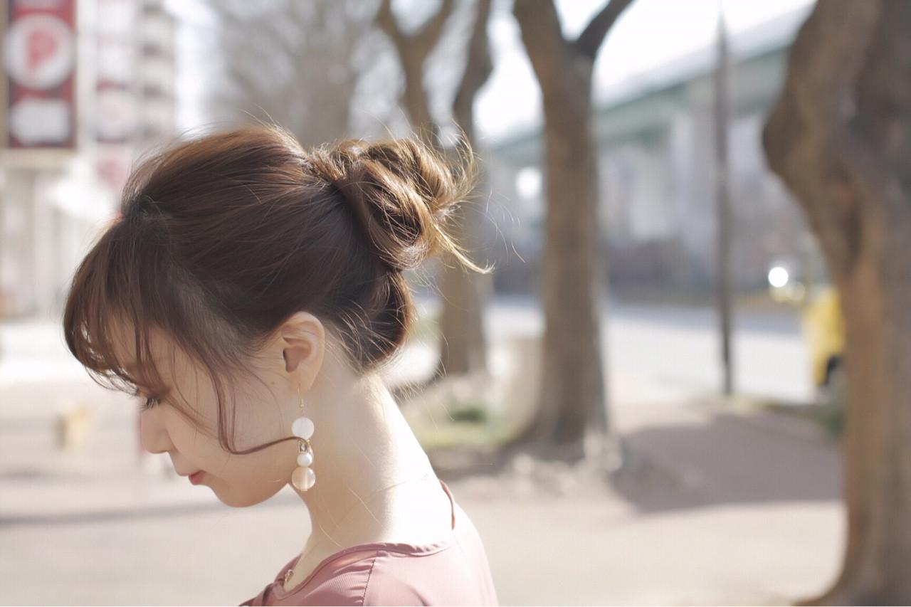 簡単ヘアアレンジ ゆるふわ モテ髪 かわいい ヘアスタイルや髪型の写真・画像