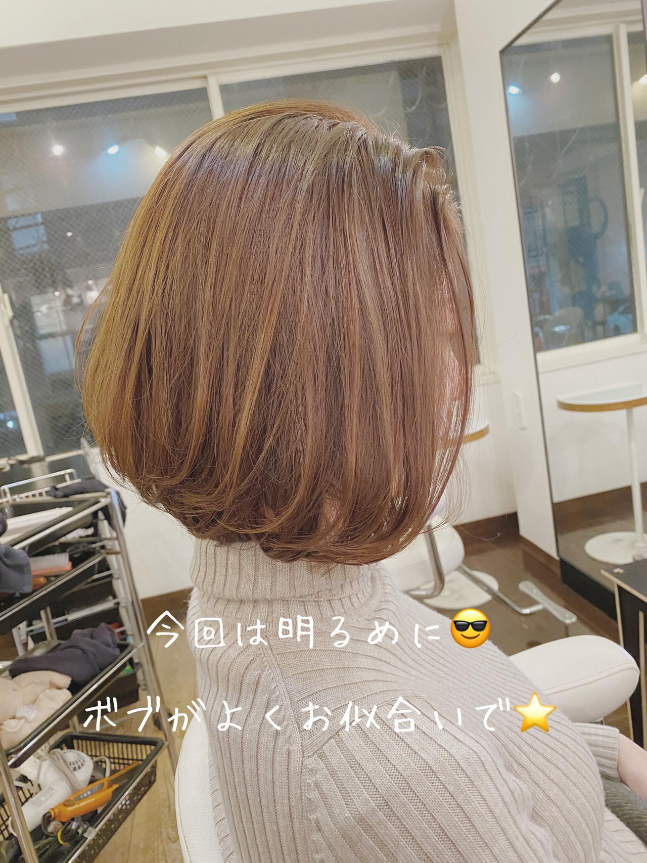 透明感カラー まとまるボブ ナチュラル 透明感 ヘアスタイルや髪型の写真・画像 | 生形洸太 / hair&make egerie