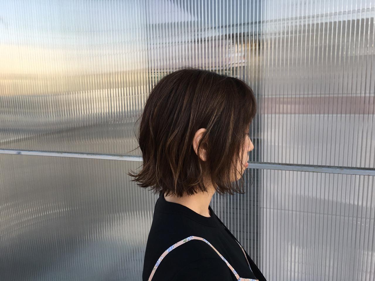 透明感 色気 ボブ 外ハネ ヘアスタイルや髪型の写真・画像
