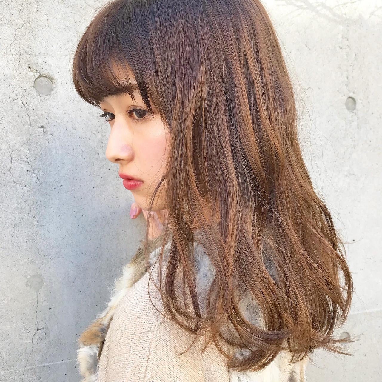 セミロング ナチュラル 大人かわいい デート ヘアスタイルや髪型の写真・画像 | 伊藤愛子 GARDEN / GARDEN  omotesando