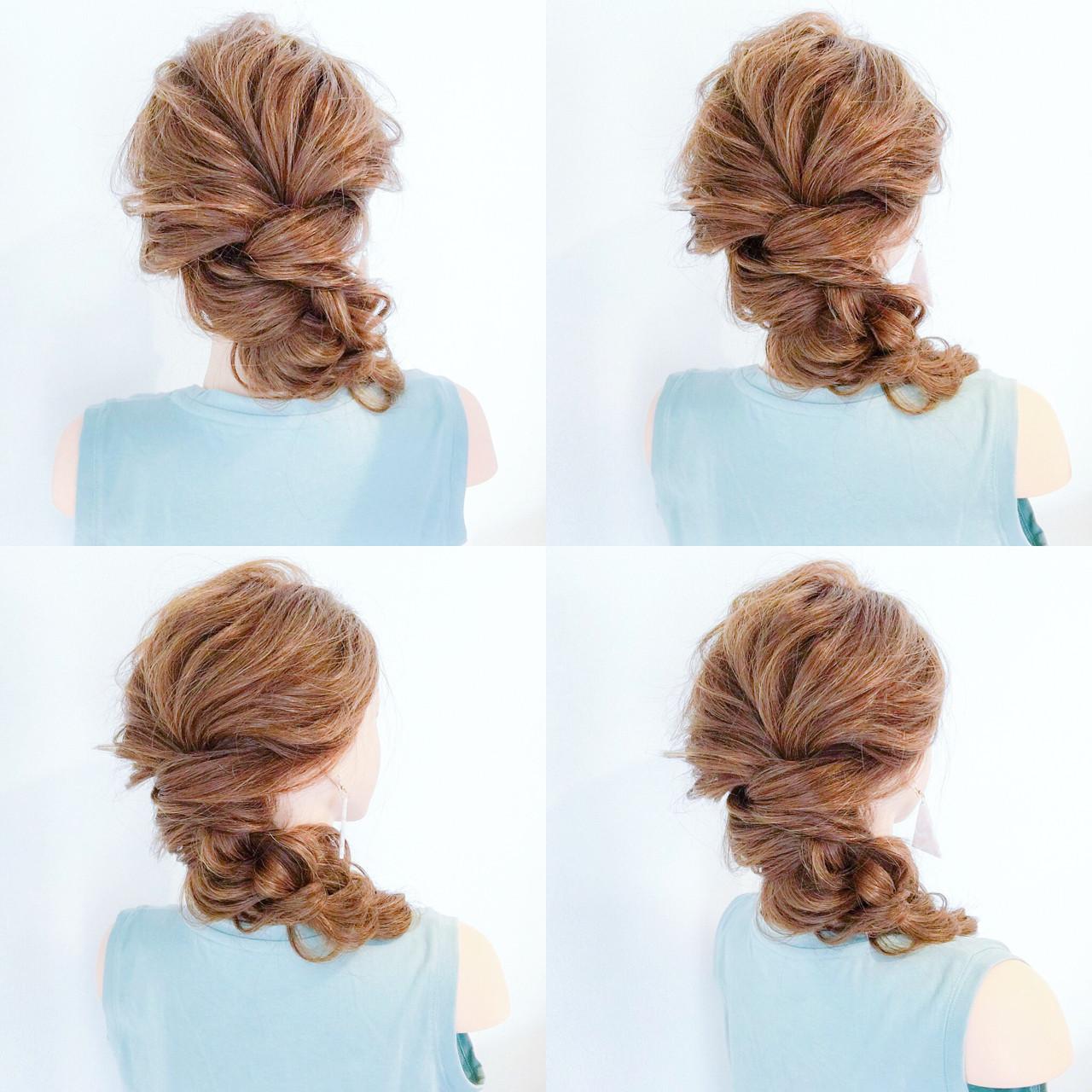 夏 デート 結婚式 簡単ヘアアレンジ ヘアスタイルや髪型の写真・画像 | 美容師HIRO/Amoute代表 / Amoute/アムティ