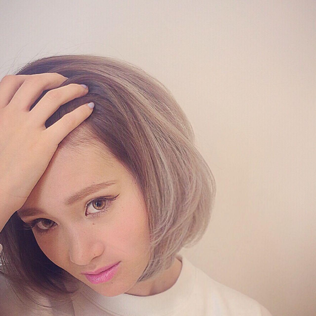 外国人風 グラデーションカラー 春 ボブ ヘアスタイルや髪型の写真・画像 | RUMINA //高田ゆみこ / Rumina