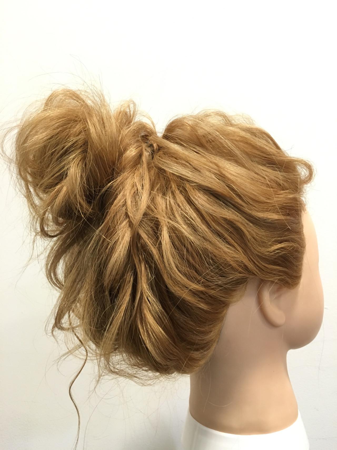 ロング ヘアアレンジ ショート メッシーバン ヘアスタイルや髪型の写真・画像