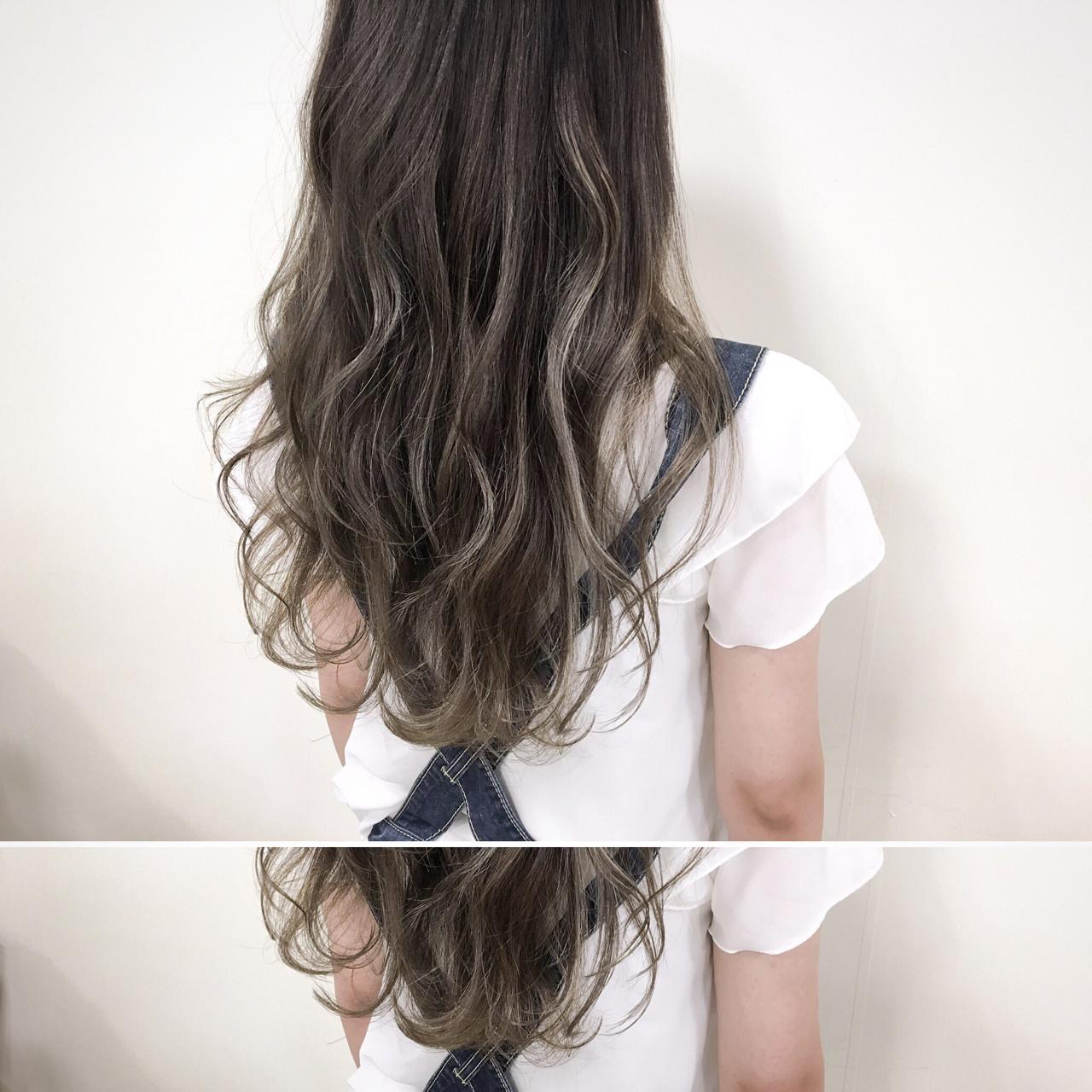 アッシュグレージュ 暗髪 ナチュラル ハイライト ヘアスタイルや髪型の写真・画像 | 新垣修平 / CARE shinsaibashi