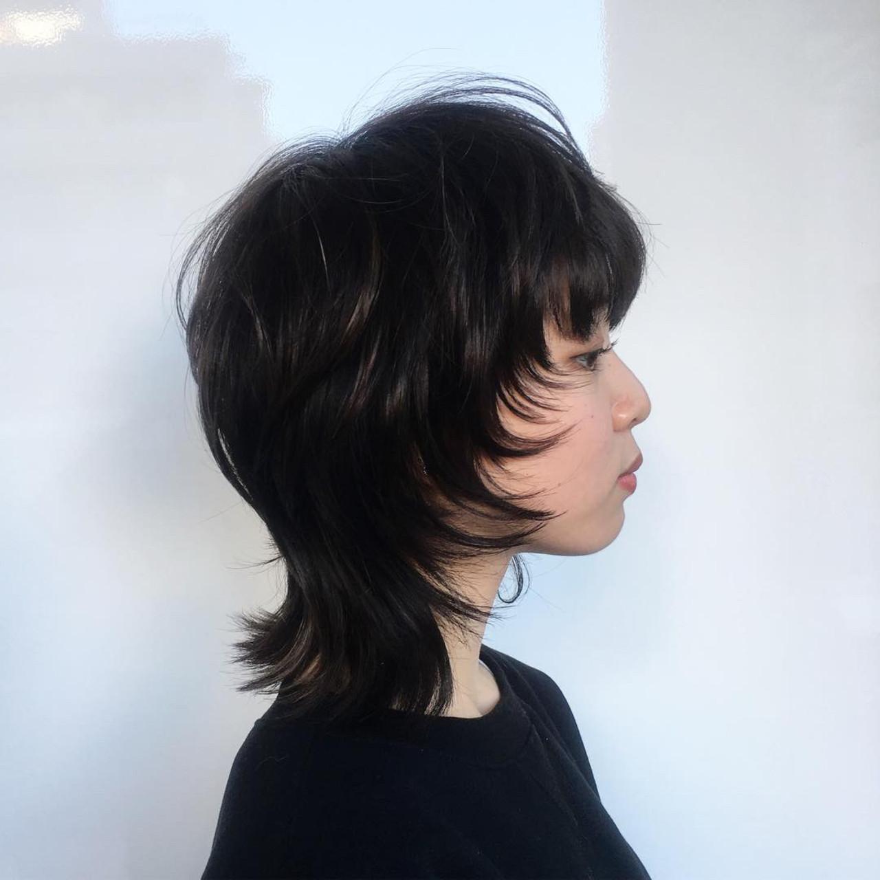 ウルフカット ストリート パーマ ウルフパーマ ヘアスタイルや髪型の写真・画像