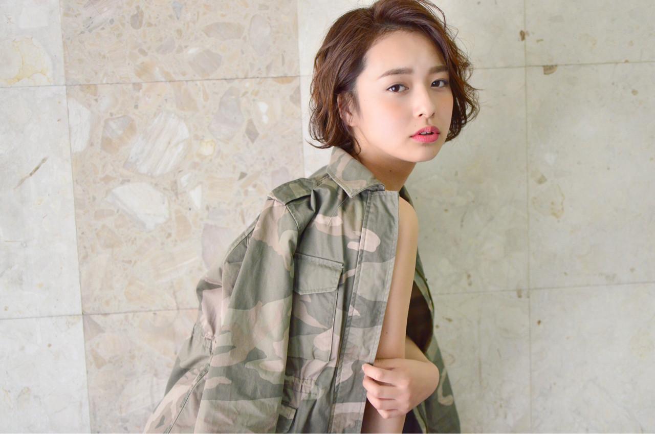 リラックス 女子会 デート ボブ ヘアスタイルや髪型の写真・画像