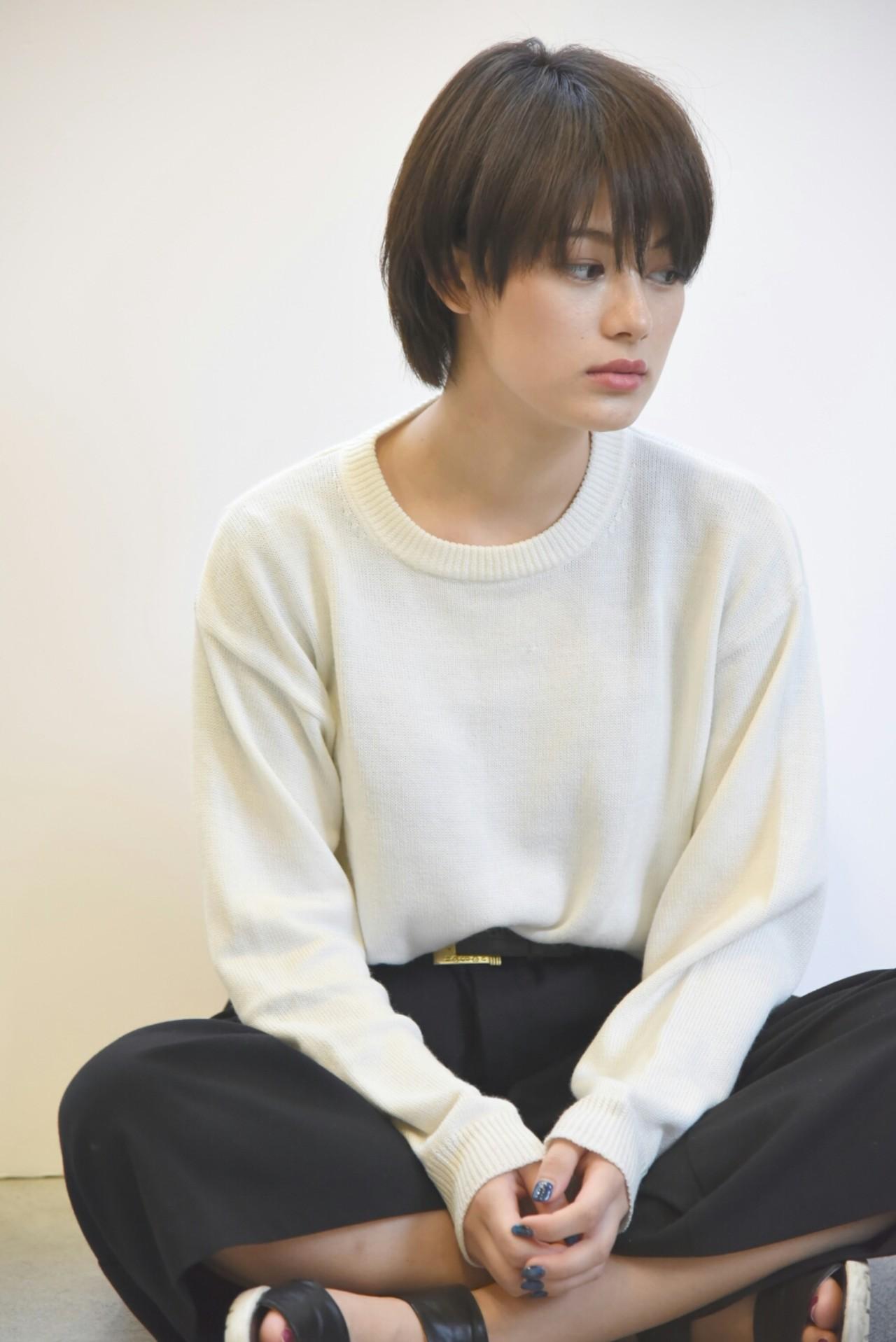 ショート 黒髪 マッシュ ナチュラル ヘアスタイルや髪型の写真・画像 | イノウエ ユウキ【freelance】 / AKAMEE【アカミー】