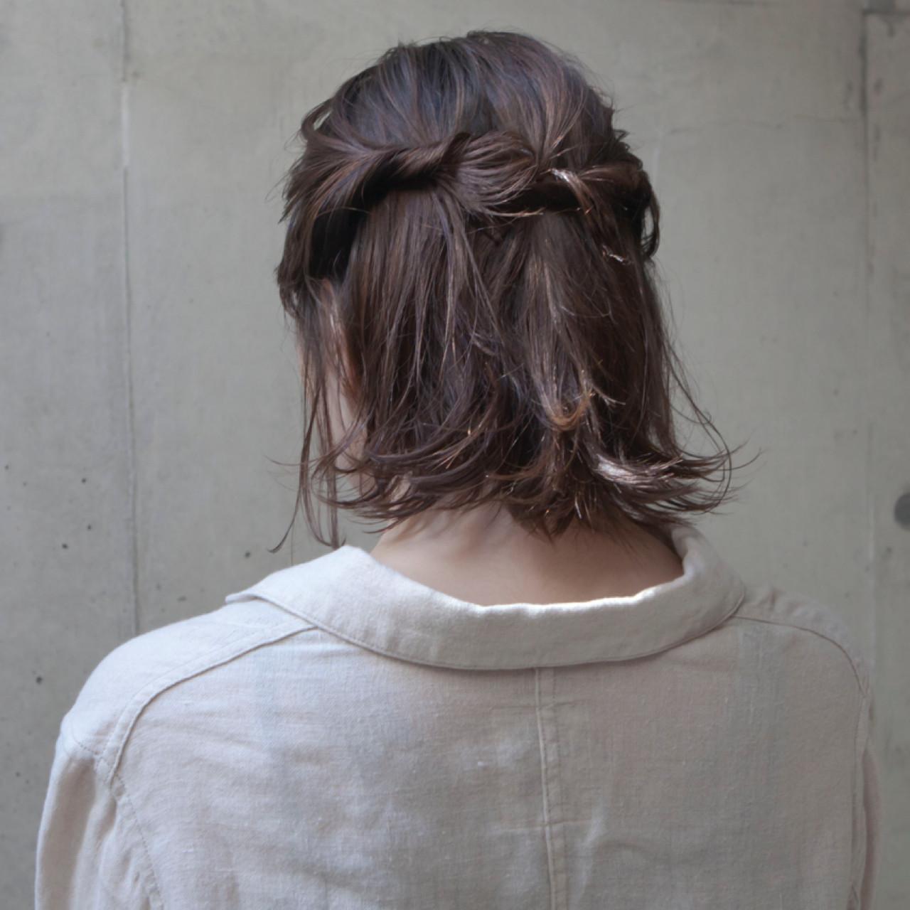 ヘアアレンジ 外国人風 ナチュラル 外ハネ ヘアスタイルや髪型の写真・画像