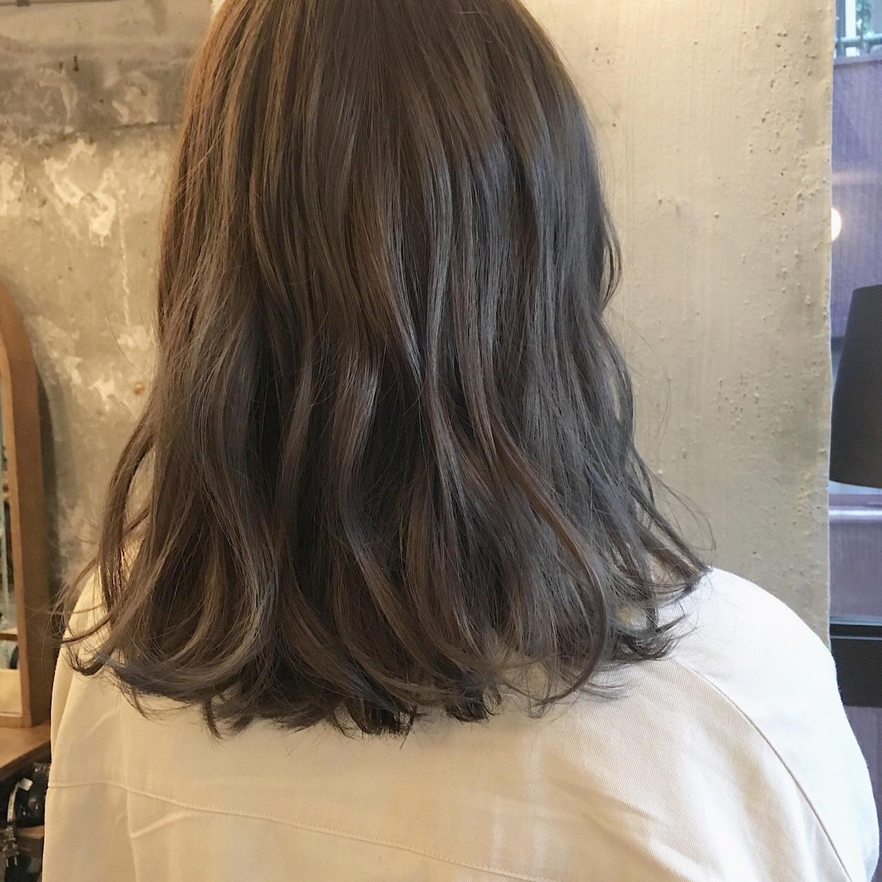 女子会 ナチュラル ミディアム リラックス ヘアスタイルや髪型の写真・画像