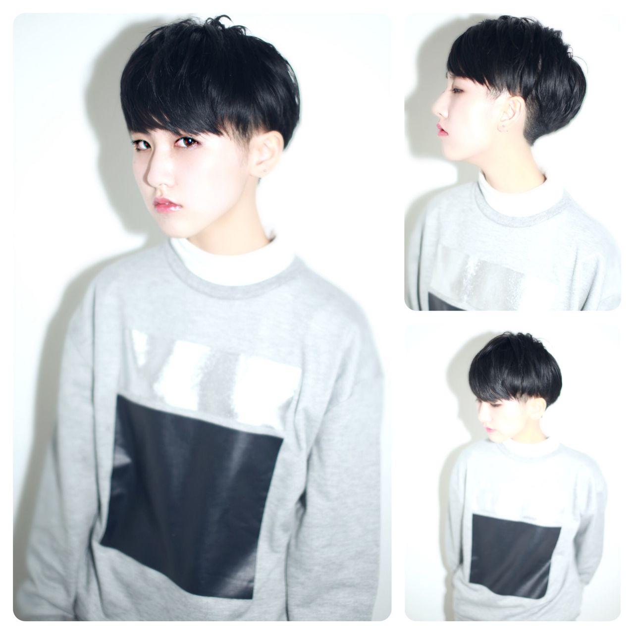 黒髪 坊主 ストリート 刈り上げ ヘアスタイルや髪型の写真・画像   イマムラ スナオ / LUKE
