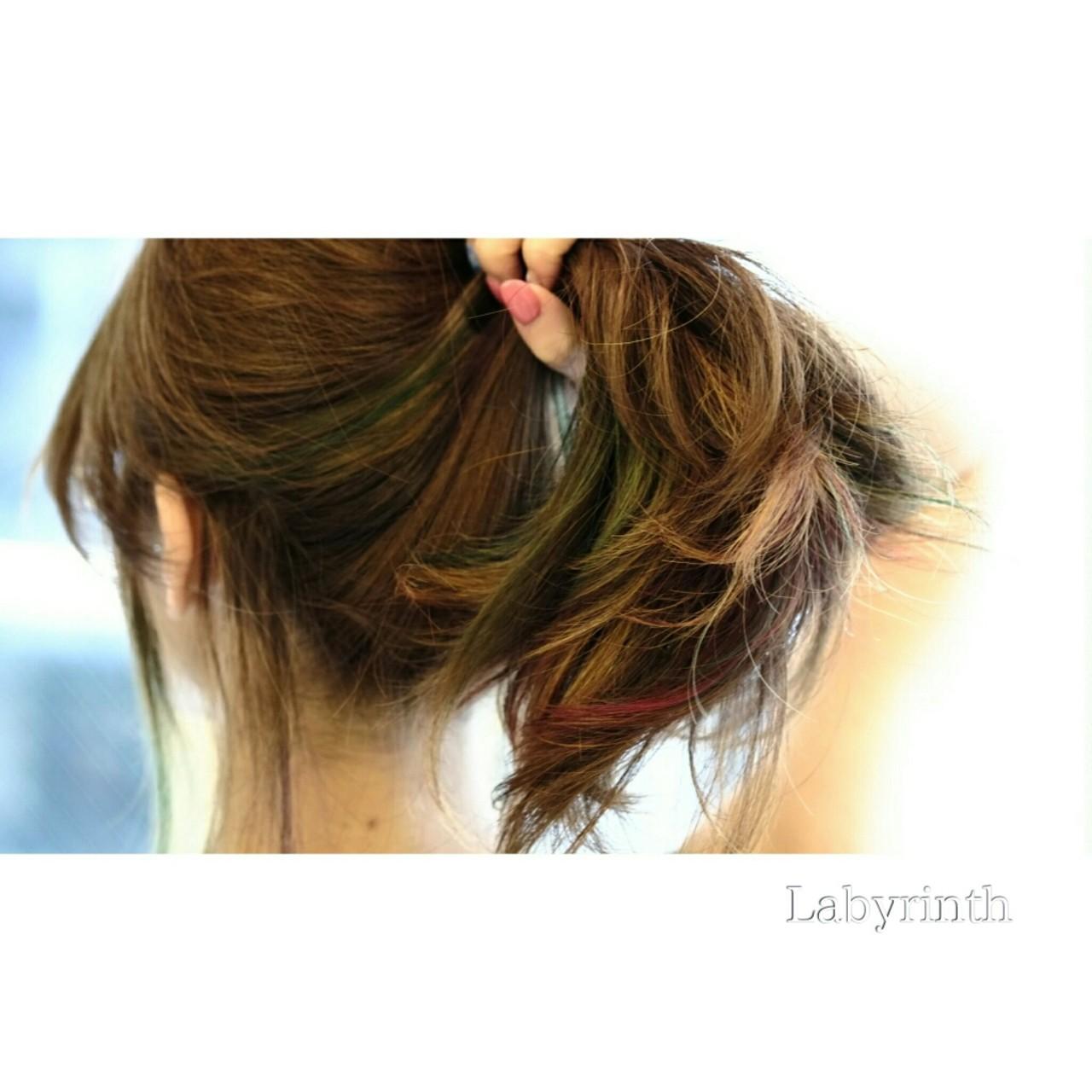 暗髪 グラデーションカラー ロング ストリート ヘアスタイルや髪型の写真・画像 | 西尾 隆介 / Labyrinth