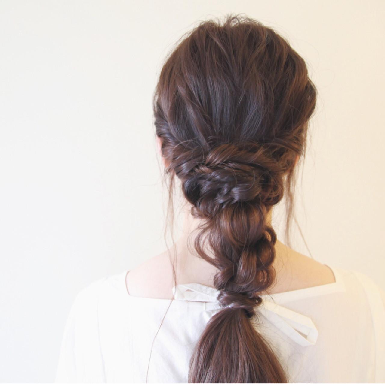 波ウェーブ ヘアアレンジ ショート ロング ヘアスタイルや髪型の写真・画像 | ayamimurakami / KOCHAB