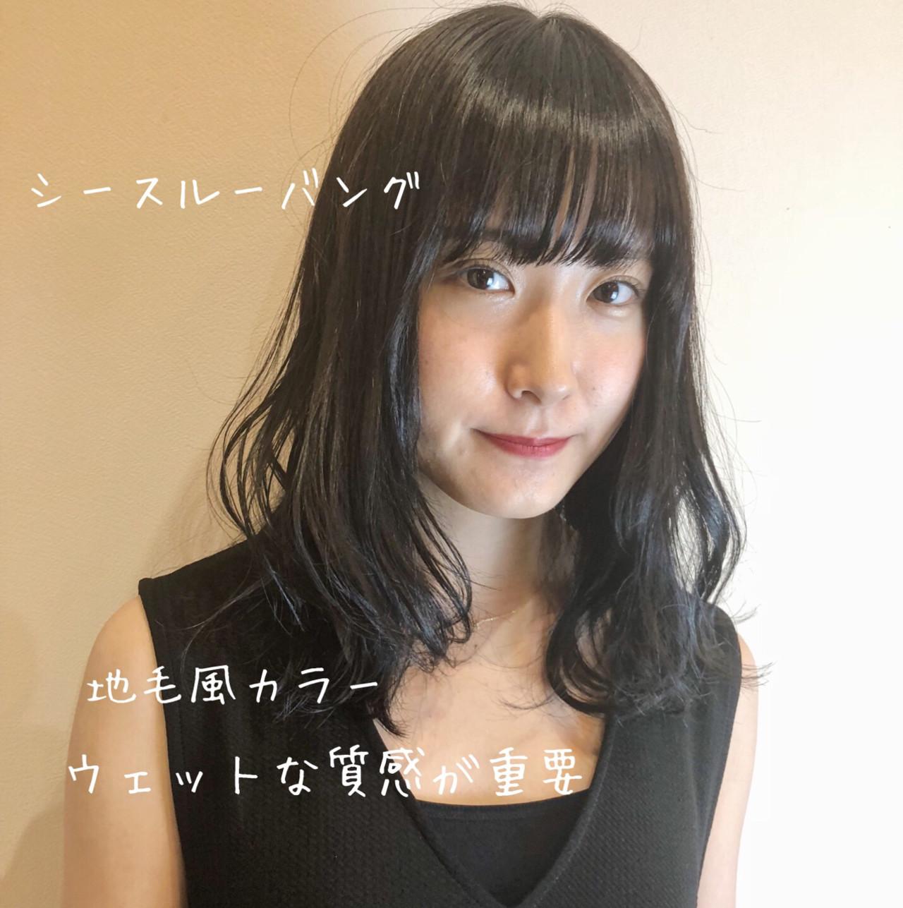 オフィス グレージュ 波ウェーブ ナチュラル ヘアスタイルや髪型の写真・画像   夏井裕司 / Frais