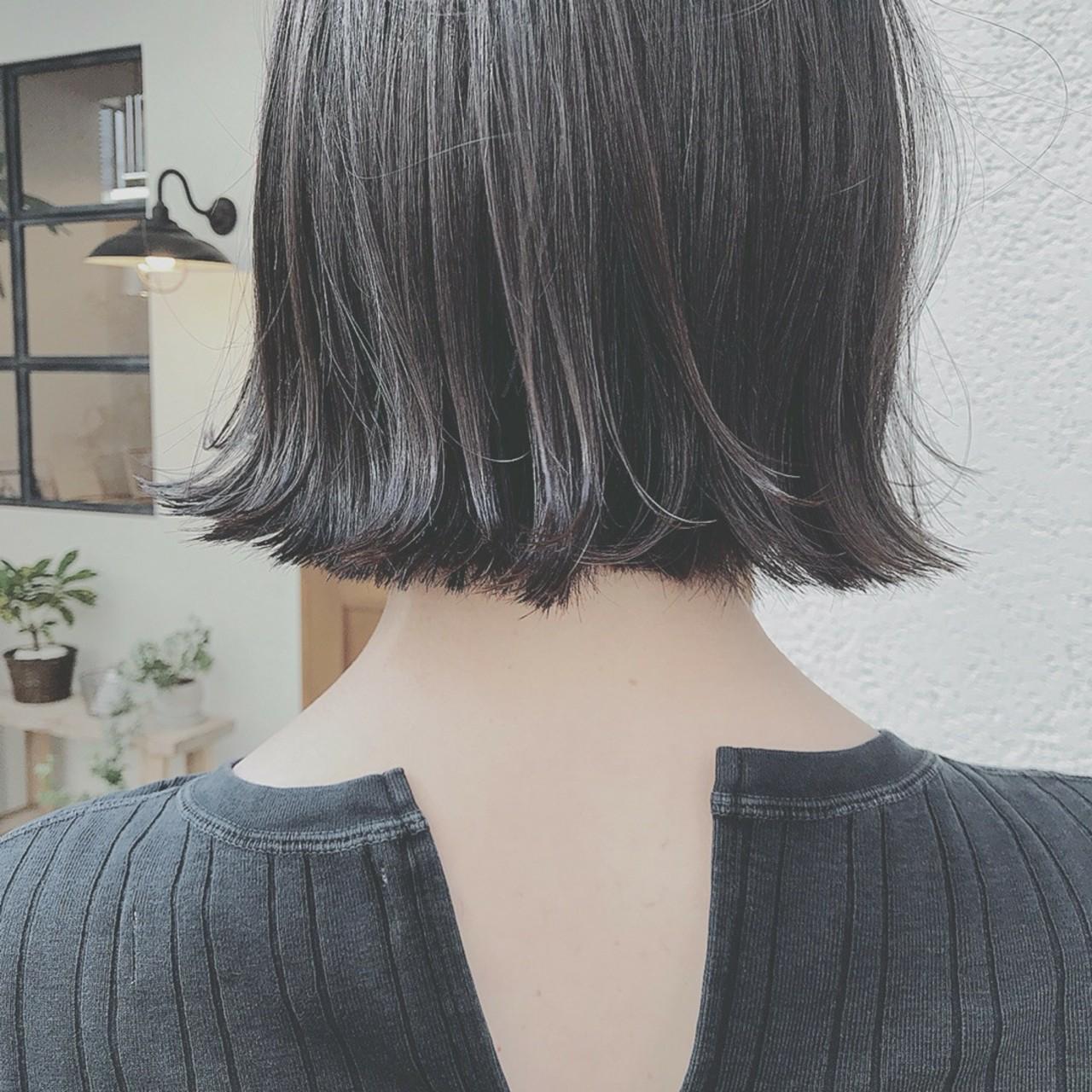 エレガント 色気 透明感 ボブ ヘアスタイルや髪型の写真・画像