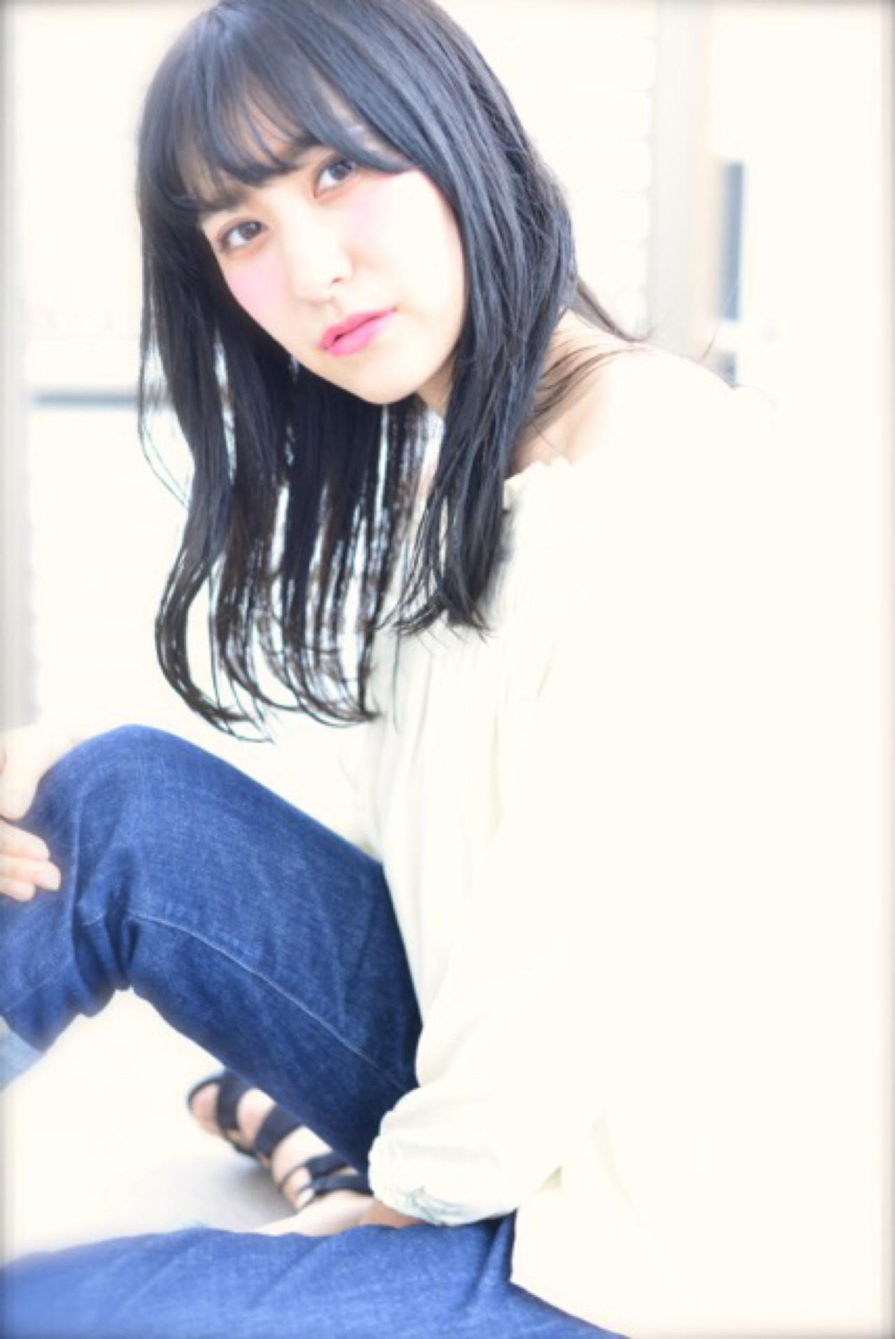 ストリート 黒髪 セミロング ブルージュ ヘアスタイルや髪型の写真・画像 | 中野ヘイスケ / Linola
