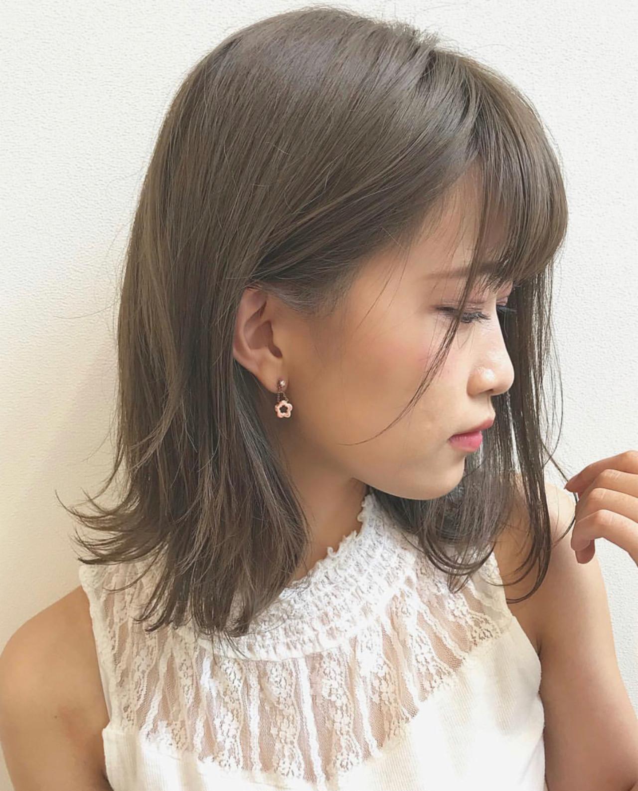 簡単ヘアアレンジ ゆるふわ ミディアム ウェーブ ヘアスタイルや髪型の写真・画像