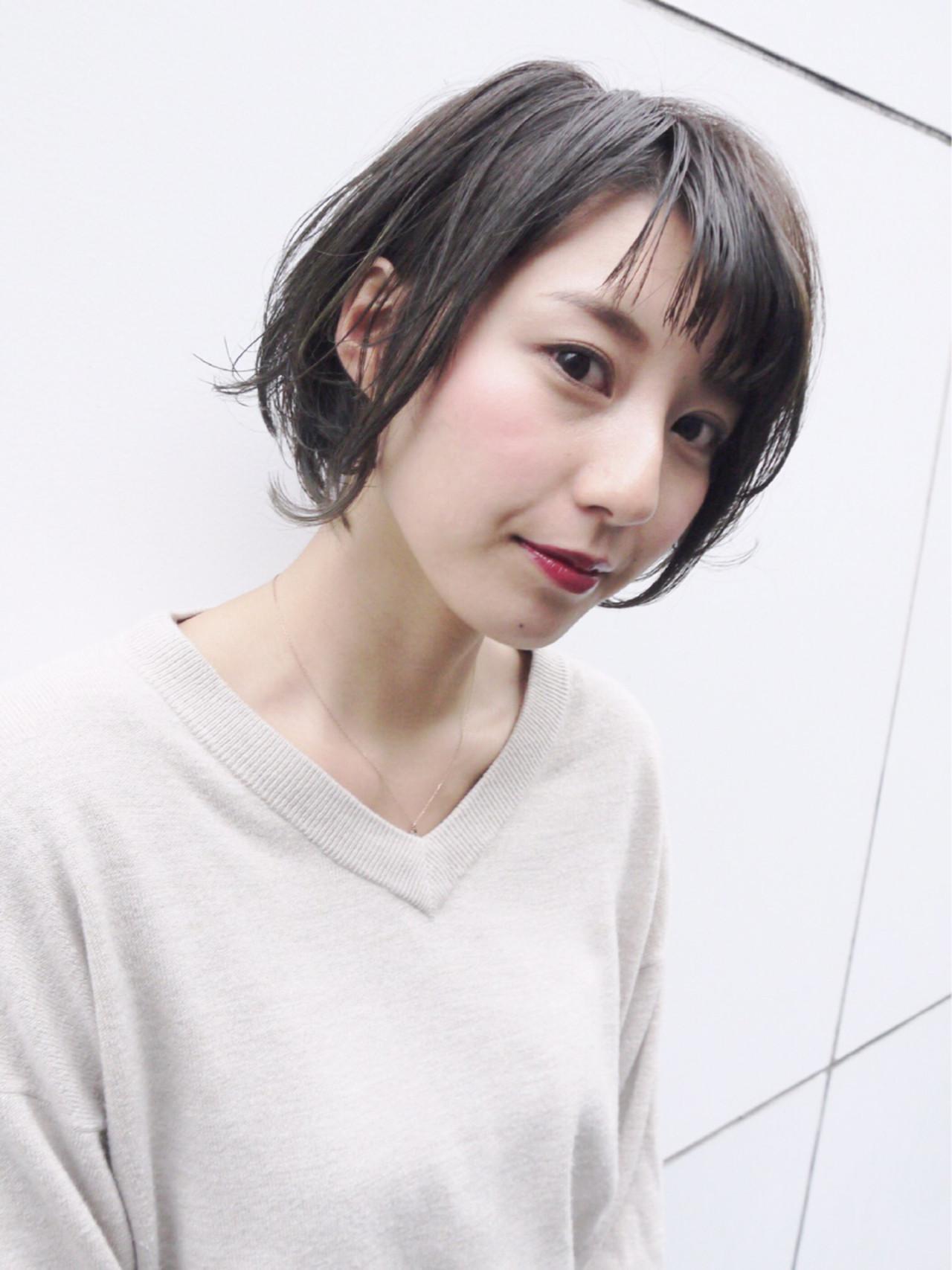 オフィス ショート デート ナチュラル ヘアスタイルや髪型の写真・画像 | Hiroさん / モリオフロムロンドン原宿本店