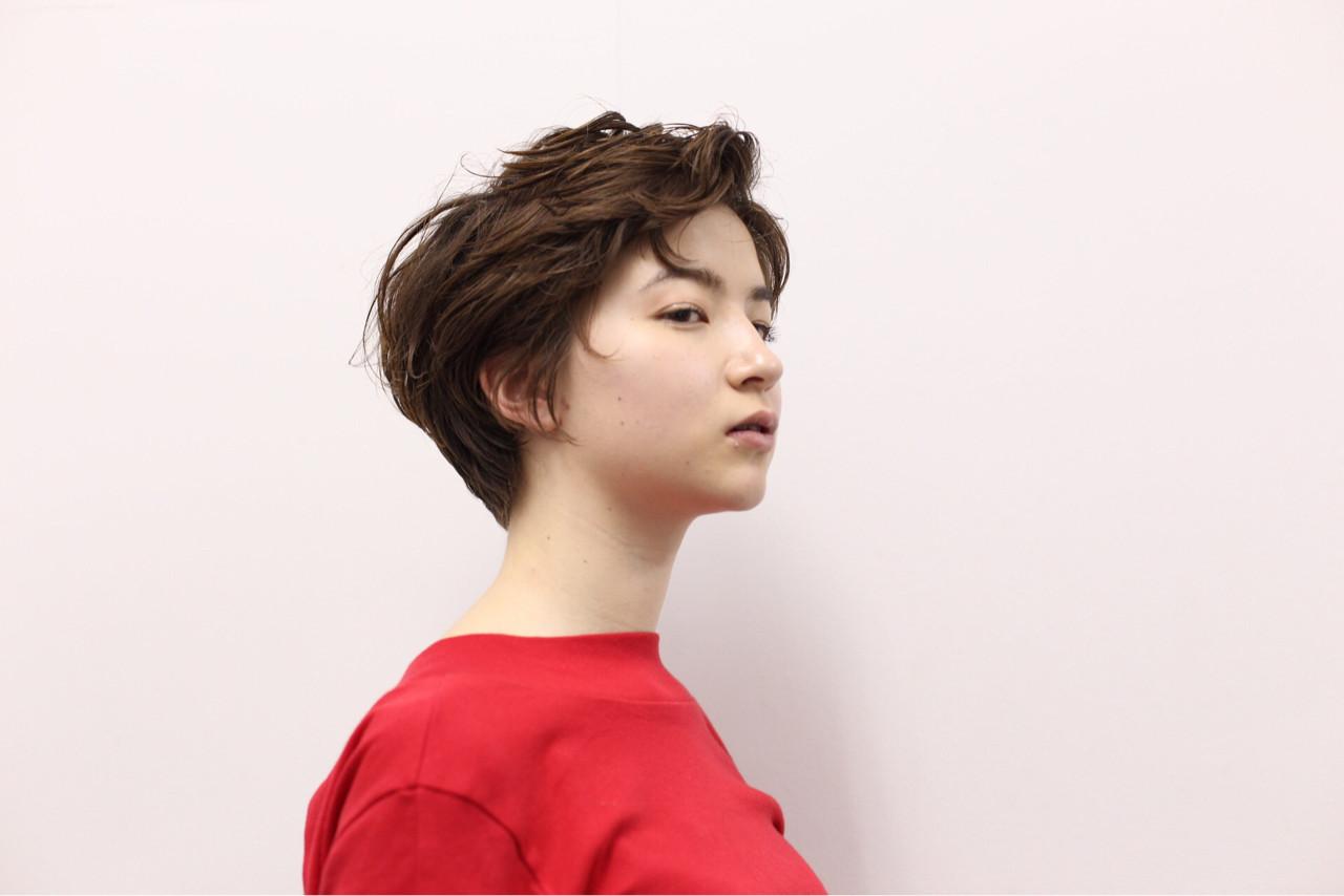 ショート 外国人風 前髪あり ボーイッシュ ヘアスタイルや髪型の写真・画像   井上 拓耶 / know hair studio