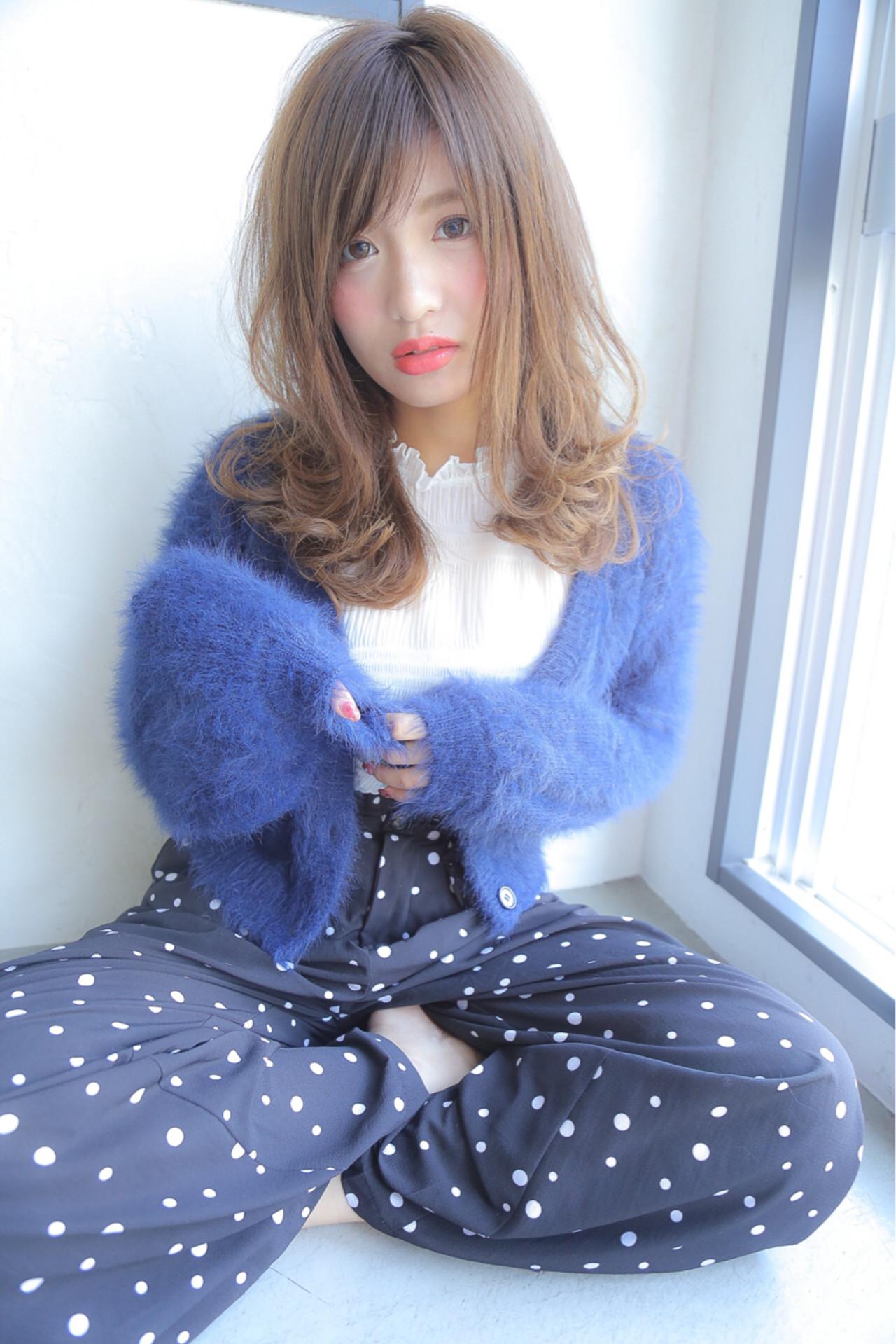 冬 秋 セミロング ミディアム ヘアスタイルや髪型の写真・画像   水野翔之 / freelance