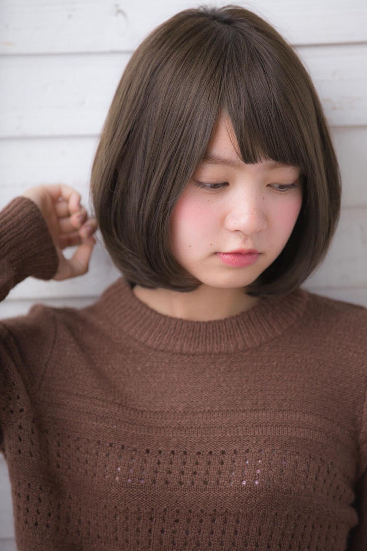 色気 ニュアンス アッシュ 前髪あり ヘアスタイルや髪型の写真・画像