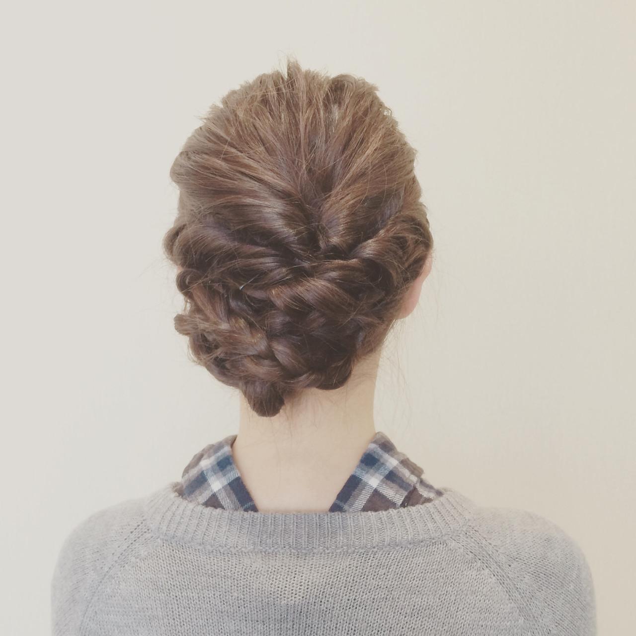 ツイスト 簡単ヘアアレンジ ヘアアレンジ 三つ編み ヘアスタイルや髪型の写真・画像