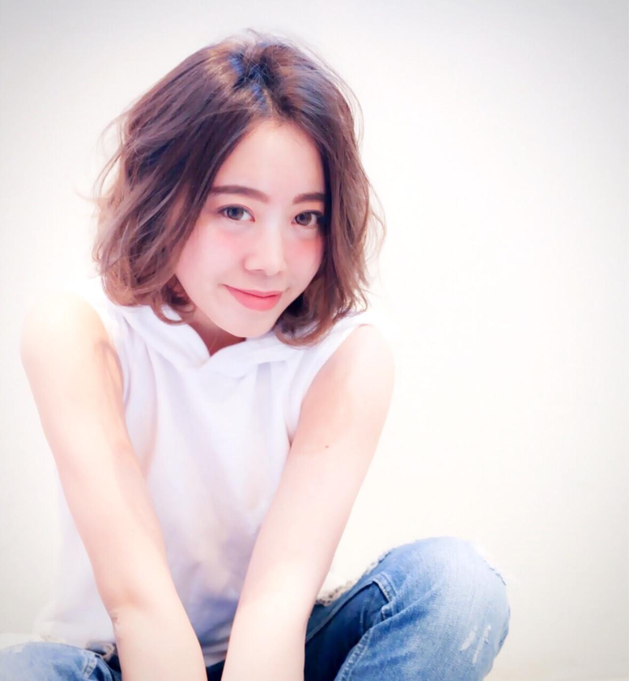 パーマ 大人かわいい 暗髪 グラデーションカラー ヘアスタイルや髪型の写真・画像 | 長岡 紗和子 /