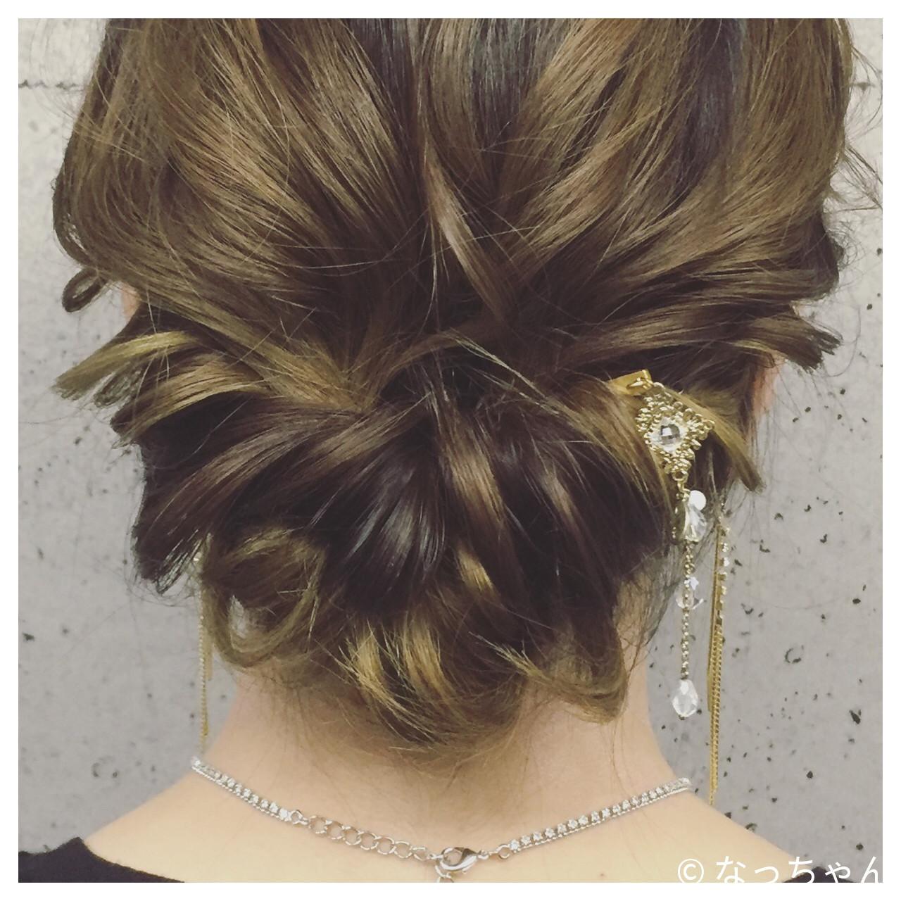 ヘアアレンジ アップスタイル ゆるふわ エレガント ヘアスタイルや髪型の写真・画像