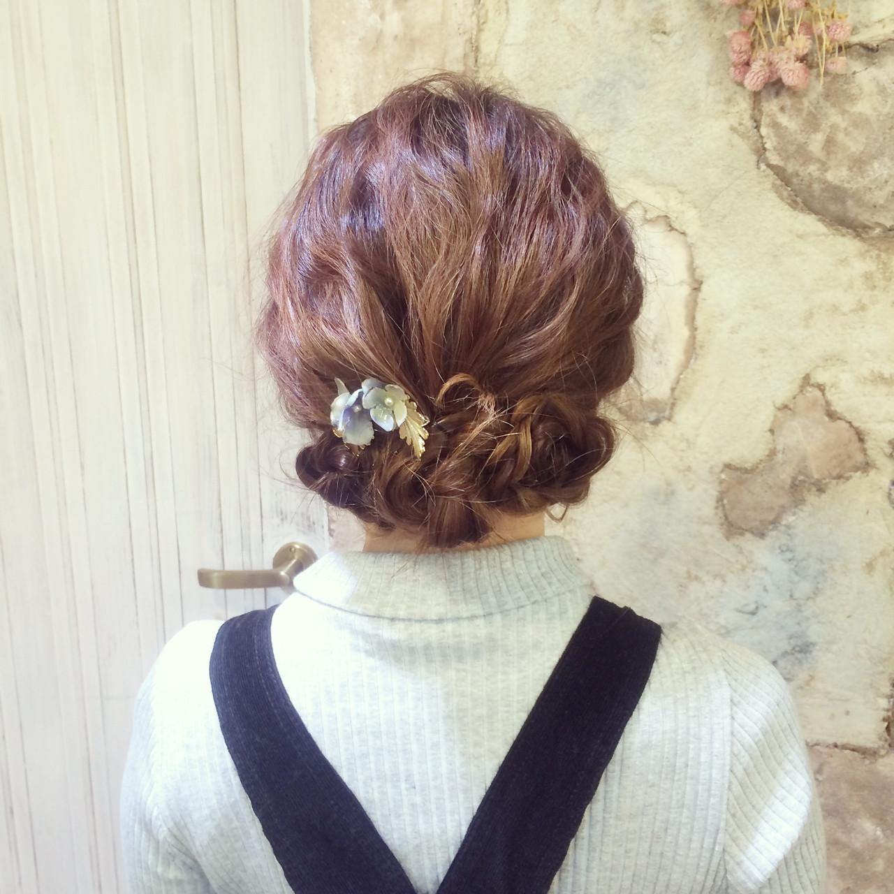 ロング セルフヘアアレンジ 波ウェーブ ヘアアレンジ ヘアスタイルや髪型の写真・画像 | Yoshimi / Luke3