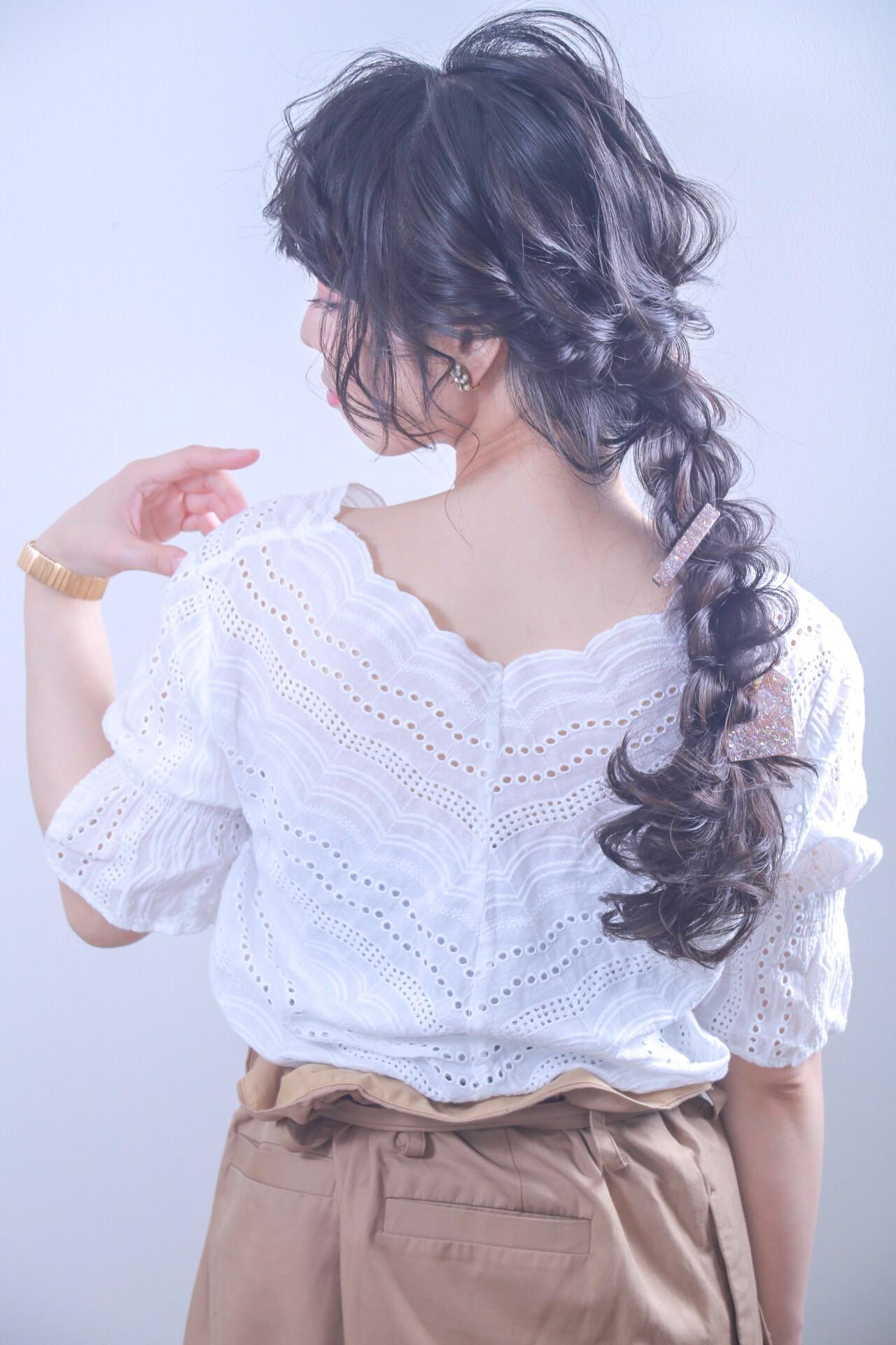 成人式 黒髪 結婚式 エレガント ヘアスタイルや髪型の写真・画像
