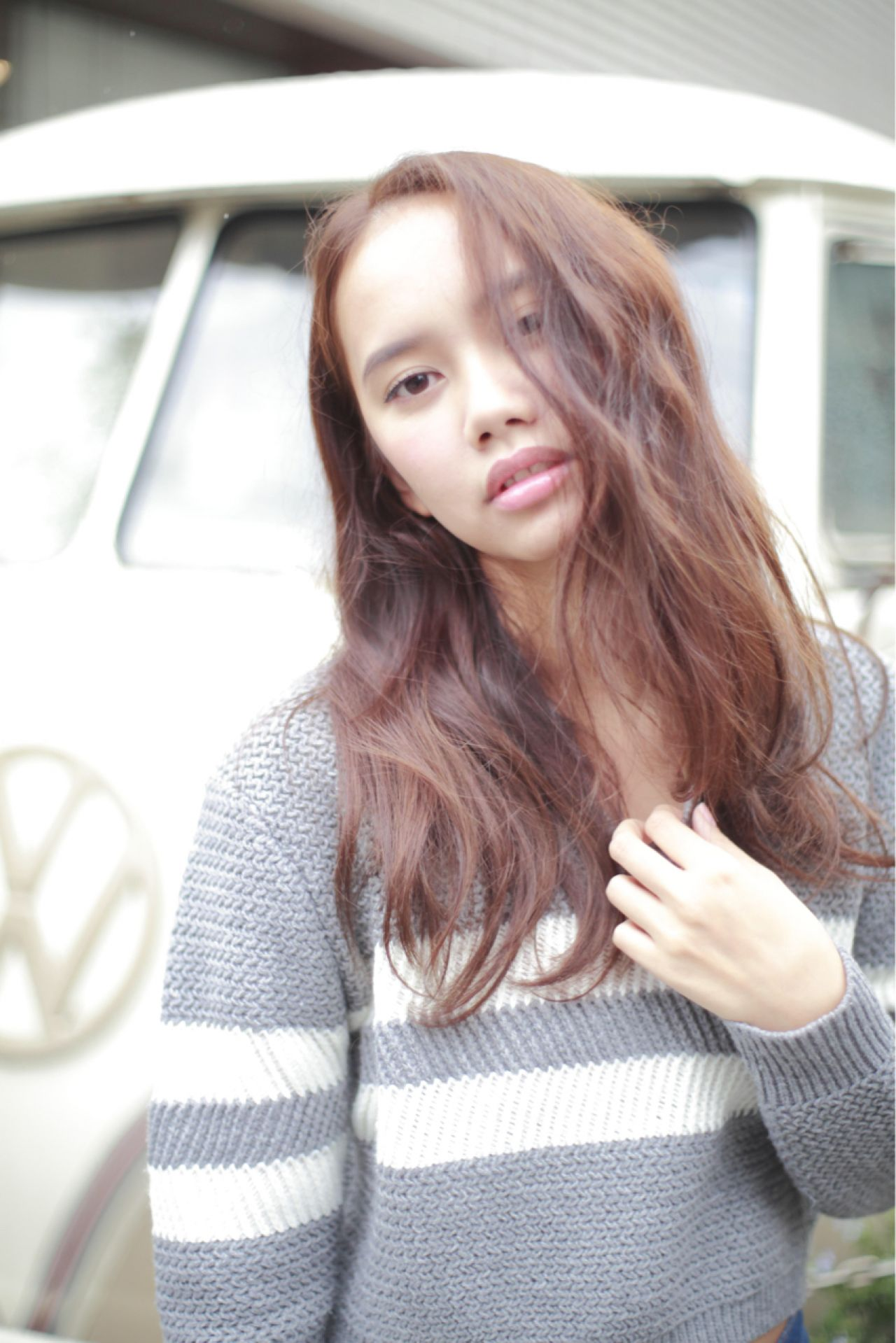 モード ロング ストリート 暗髪 ヘアスタイルや髪型の写真・画像   Ryohei Kumai / kakimoto arms 自由が丘creo店