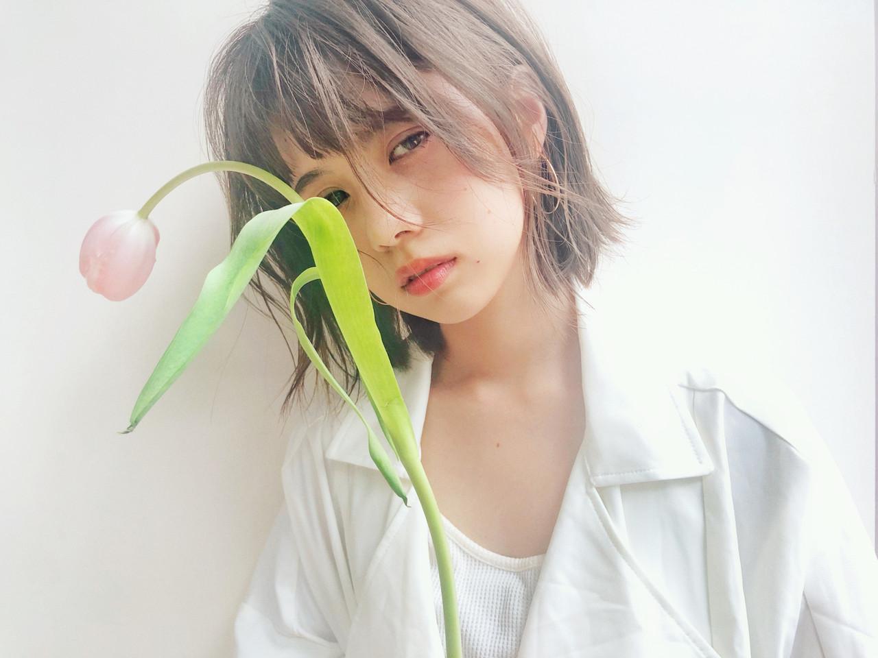 ストレート 簡単ヘアアレンジ 透明感カラー シースルーバング ヘアスタイルや髪型の写真・画像 | drive for garden 森紫織 / drive for garden