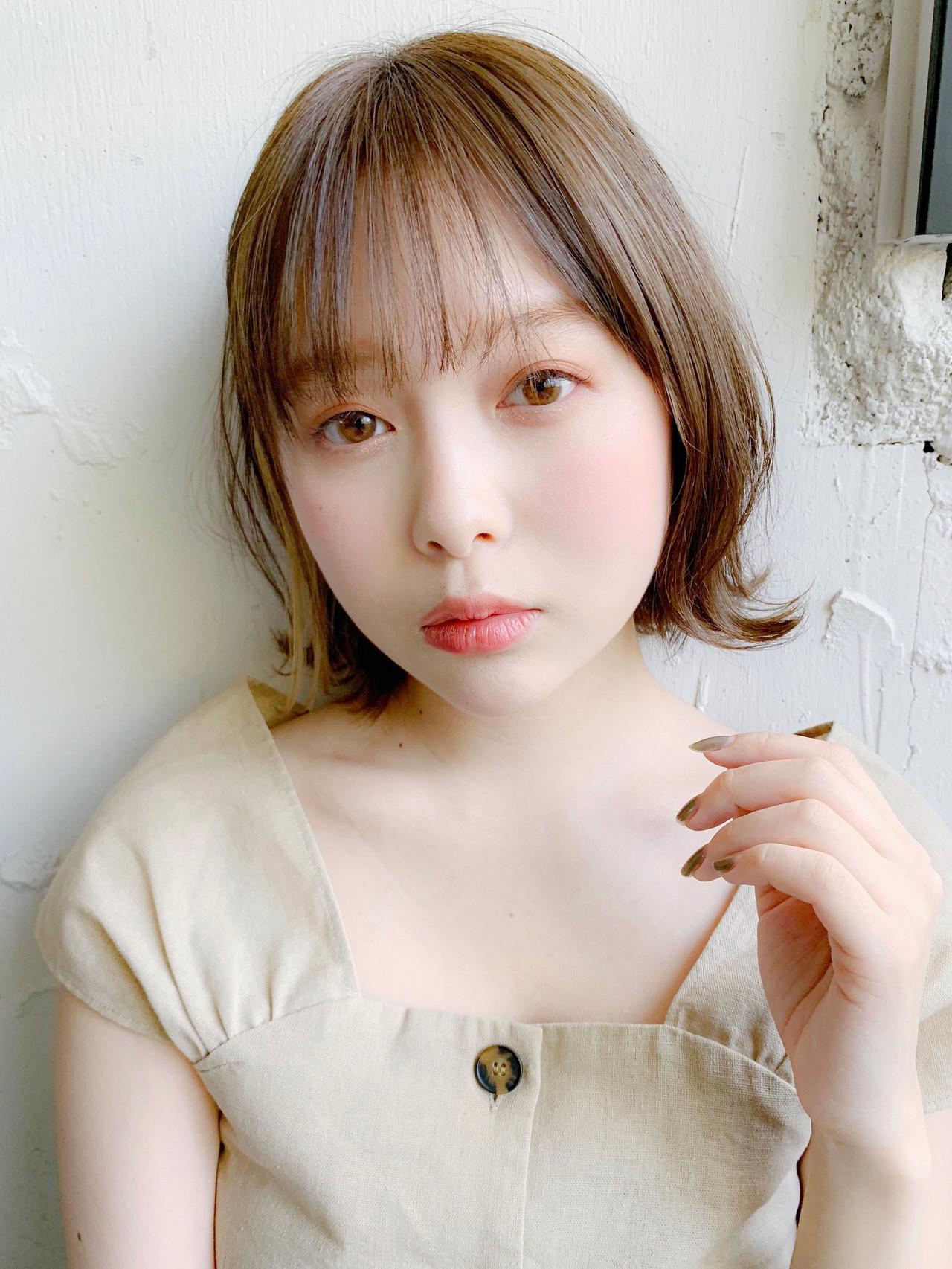 外ハネボブ ショートボブ ナチュラル ショートヘア ヘアスタイルや髪型の写真・画像 | Natsuko Kodama 児玉奈都子 / dydi