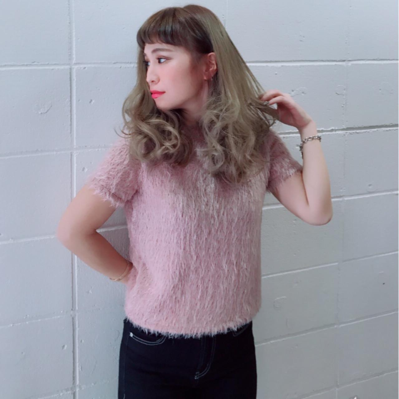 デート ガーリー 大人女子 セミロング ヘアスタイルや髪型の写真・画像