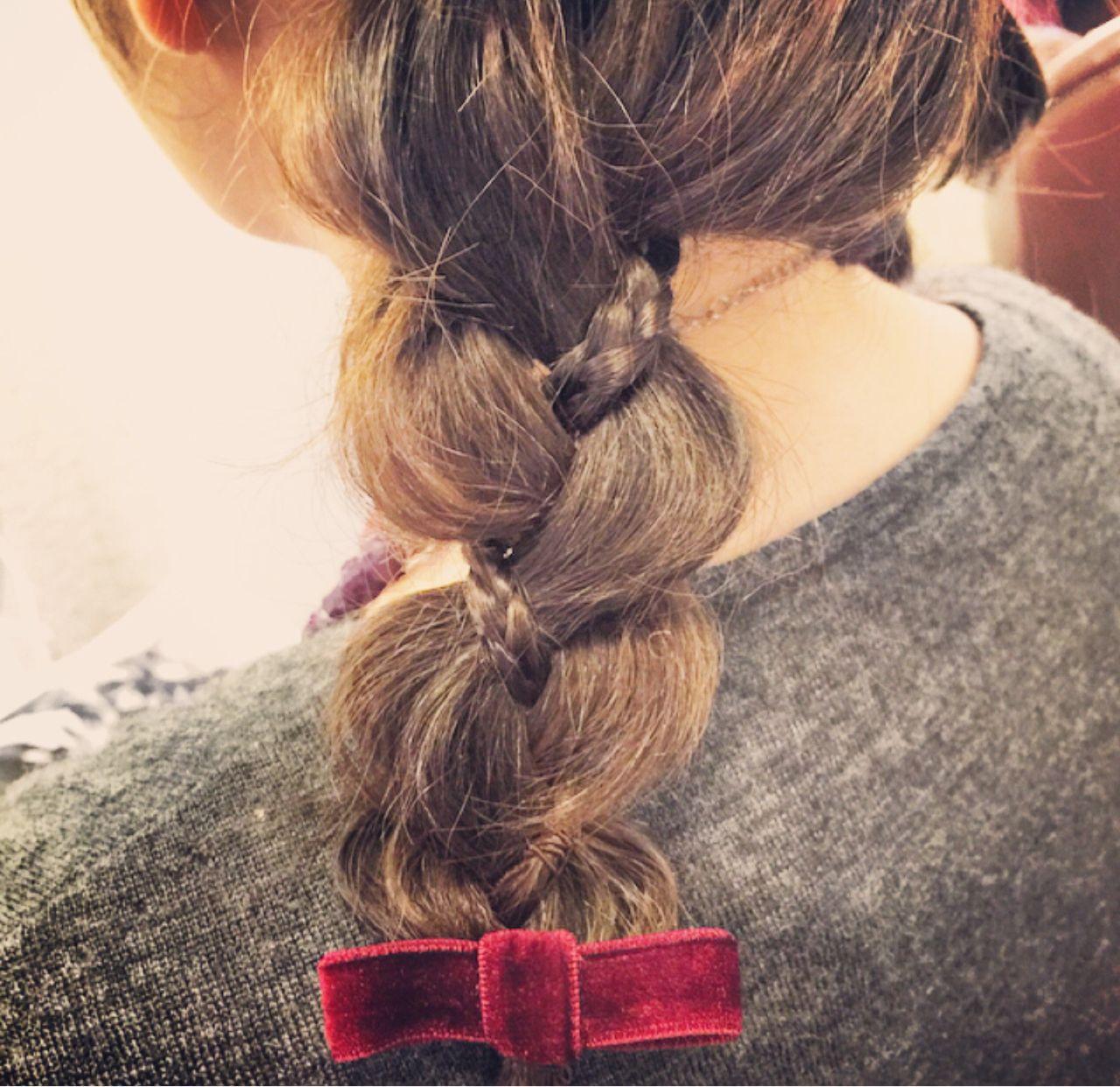 オレンジ 三つ編み ヘアアレンジ モテ髪 ヘアスタイルや髪型の写真・画像 | tomonari / iroiro (イロイロ)