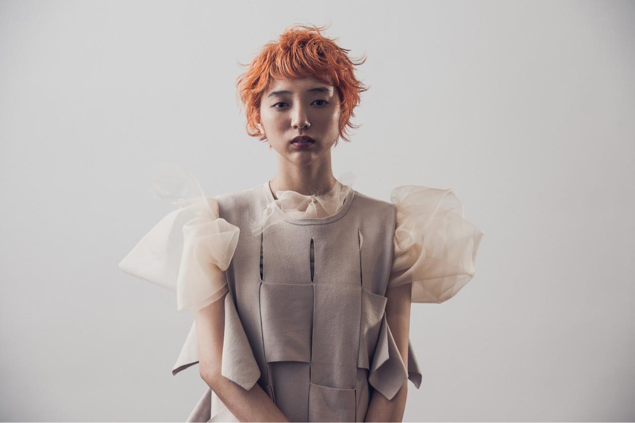 ショート ブリーチ ナチュラル オレンジ ヘアスタイルや髪型の写真・画像 | Yousuke Yamaura / vetica
