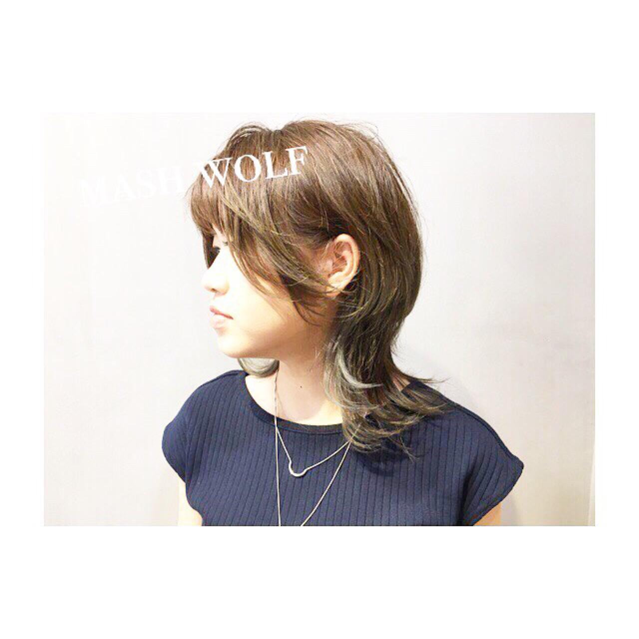 涼しげ ベージュ ピンク 夏 ヘアスタイルや髪型の写真・画像