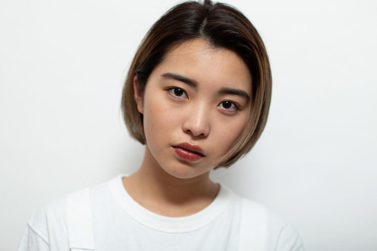 ボブ ブリーチ必須 ブリーチオンカラー ブリーチ ヘアスタイルや髪型の写真・画像 | 京都/片山 勇馬/ショート / snob