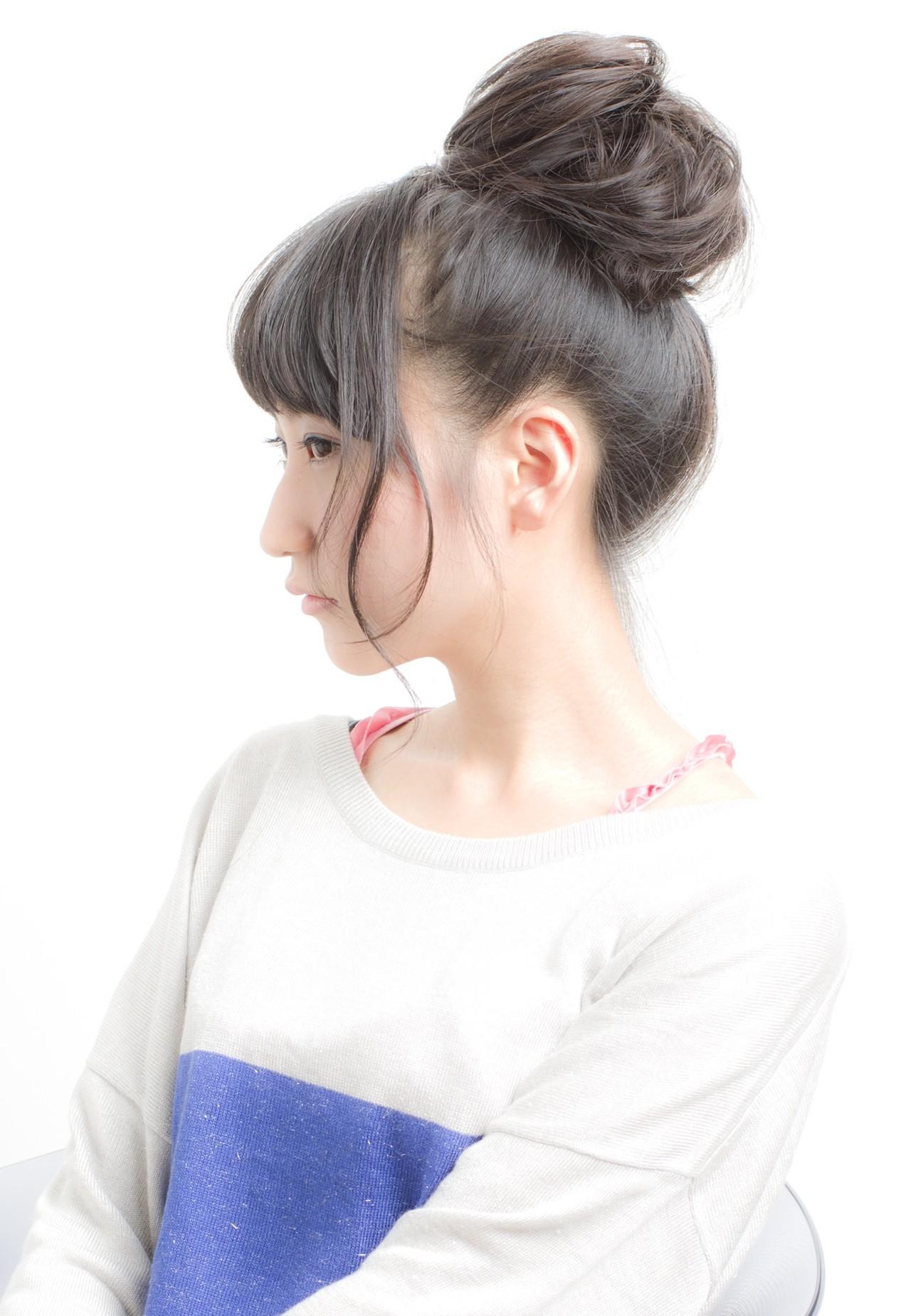 お団子 スポーツ ヘアアレンジ ロング ヘアスタイルや髪型の写真・画像 | 荒巻 充 / トライベッカ浦和店