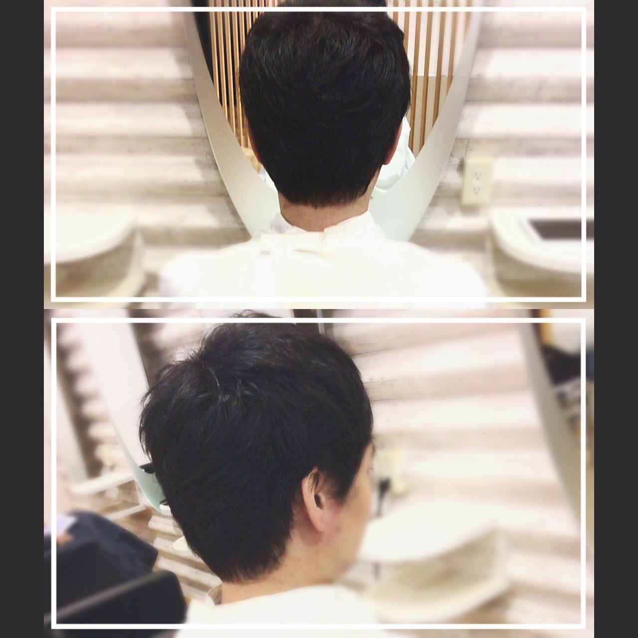 ショート ナチュラル メンズスタイル 社会人の味方 ヘアスタイルや髪型の写真・画像 | KON / &g