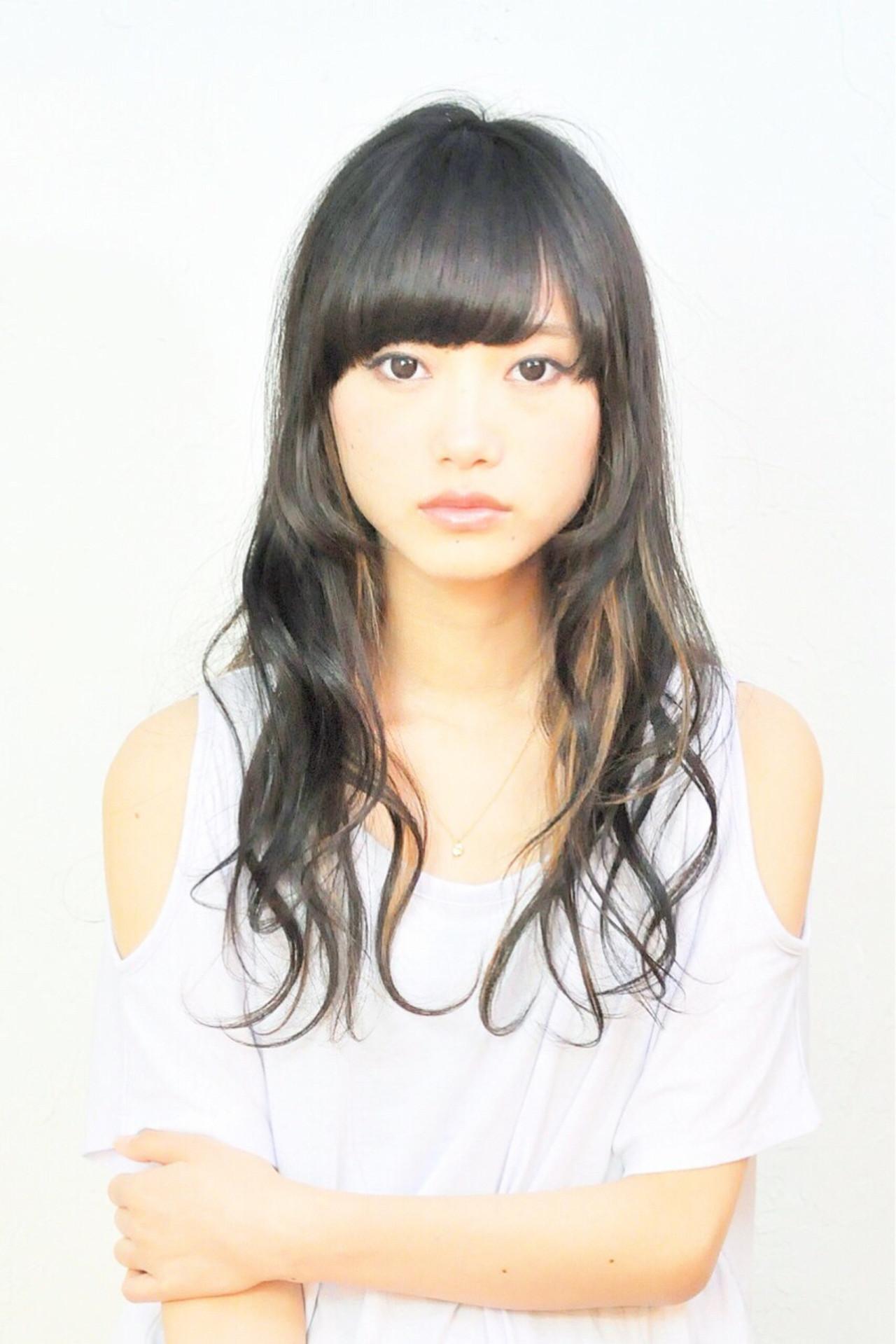 ワイドバング ピュア モード セミロング ヘアスタイルや髪型の写真・画像   Nao Kokubun blast / blast