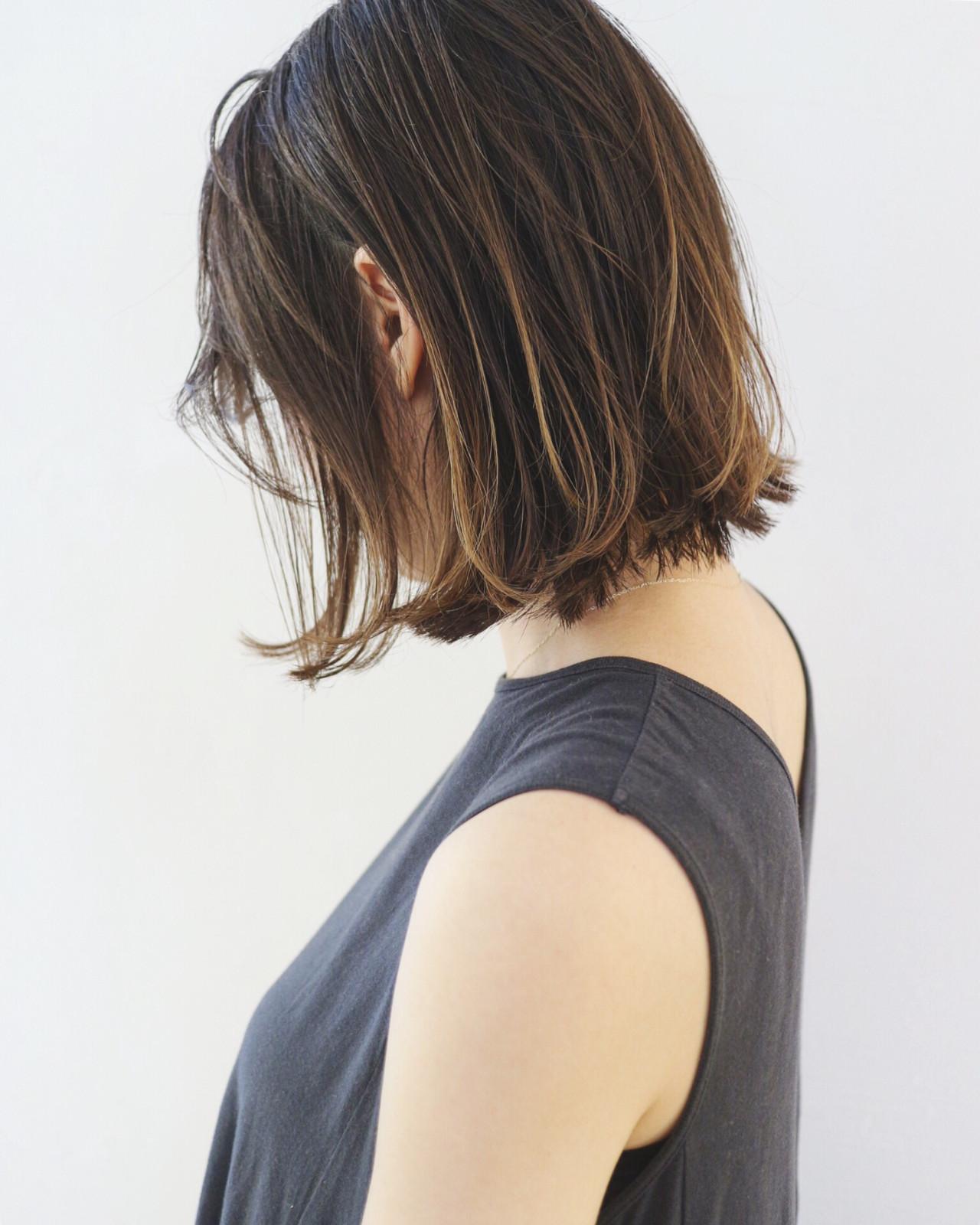 グラデーションカラー バレイヤージュ 外国人風カラー ベージュ ヘアスタイルや髪型の写真・画像
