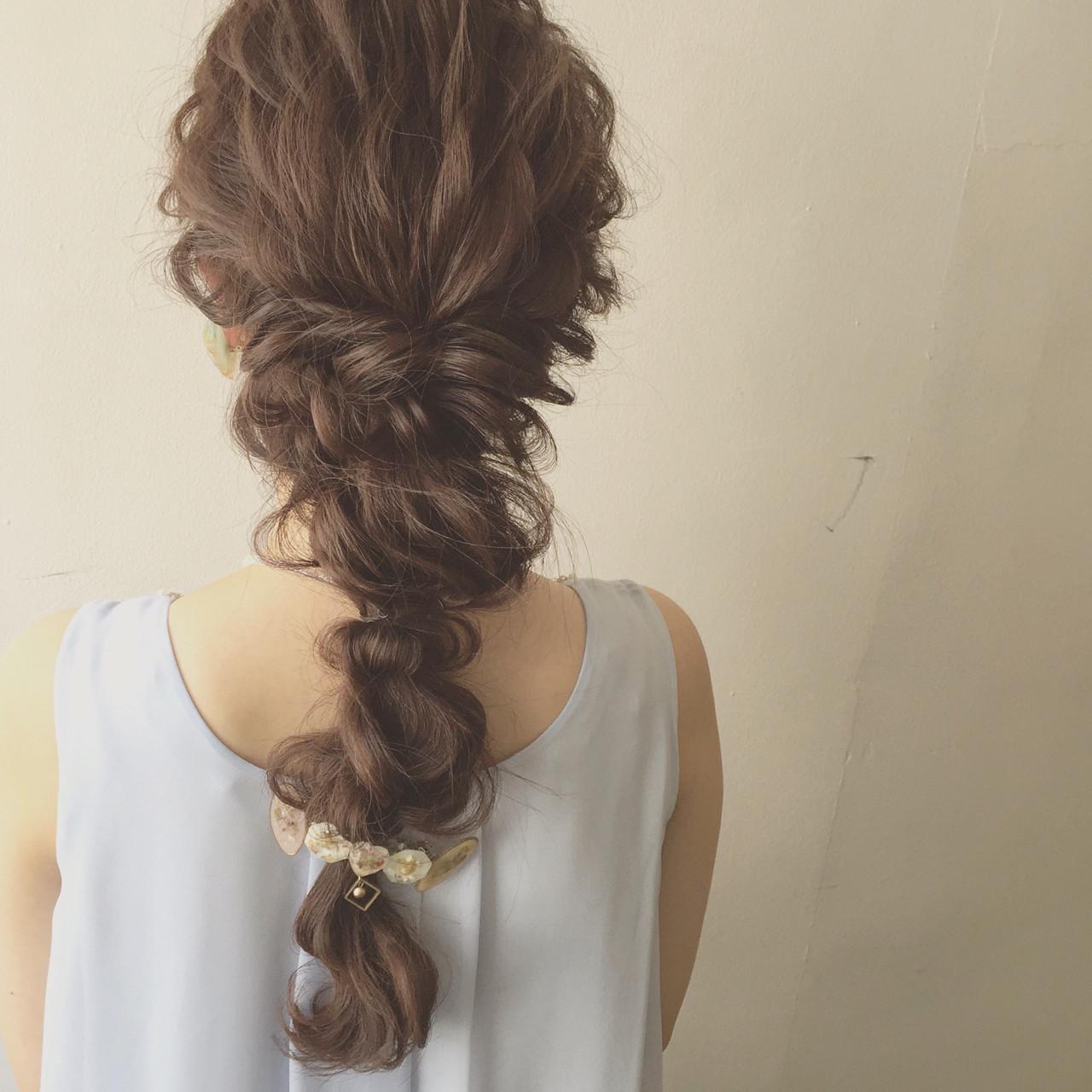 ゆるふわ ヘアアレンジ ロング 結婚式 ヘアスタイルや髪型の写真・画像
