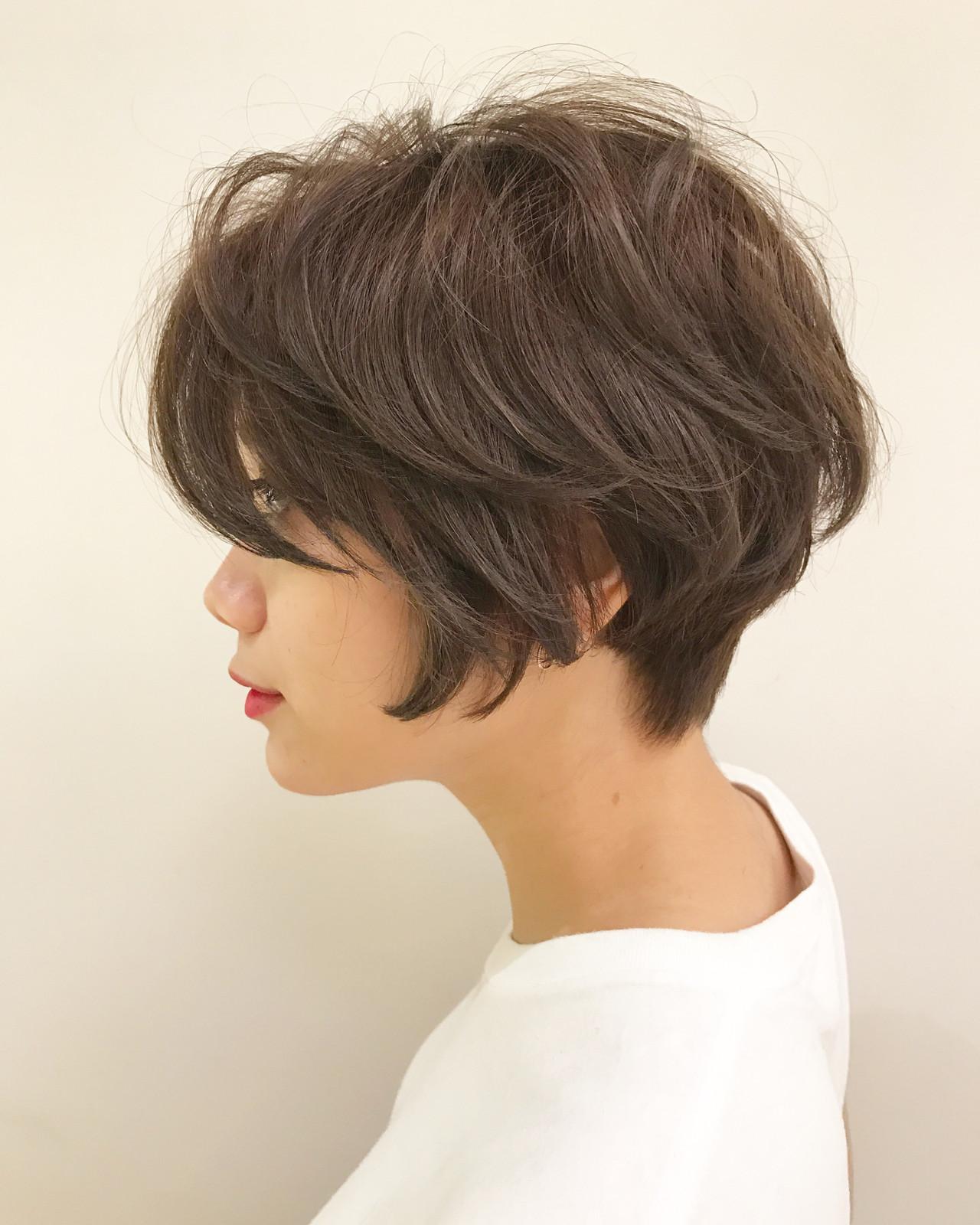 簡単ヘアアレンジ ナチュラル スポーツ 前下がり ヘアスタイルや髪型の写真・画像 | ショートヘア美容師 #ナカイヒロキ / 『send by HAIR』
