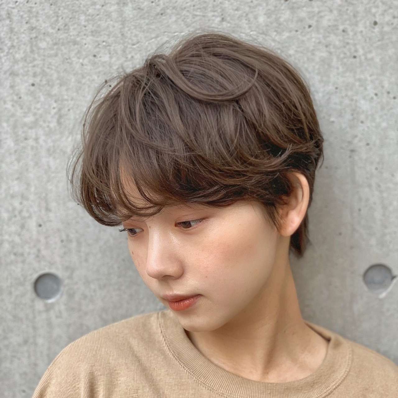 ショート オフィス ヘアアレンジ パーマ ヘアスタイルや髪型の写真・画像 | 大塚孝範 / hair salon ing (ヘア サロン イング)
