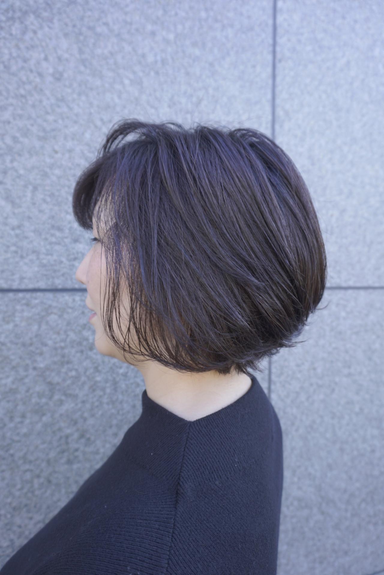 ミニボブ ハンサムショート ショート ショートヘア ヘアスタイルや髪型の写真・画像