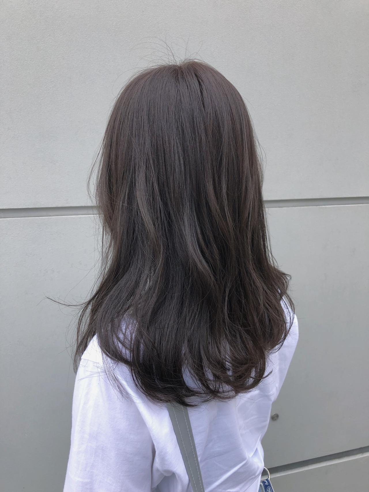ミディアムレイヤー 大人かわいい ミディアム ナチュラル ヘアスタイルや髪型の写真・画像 | 北里和哉 / far beyond