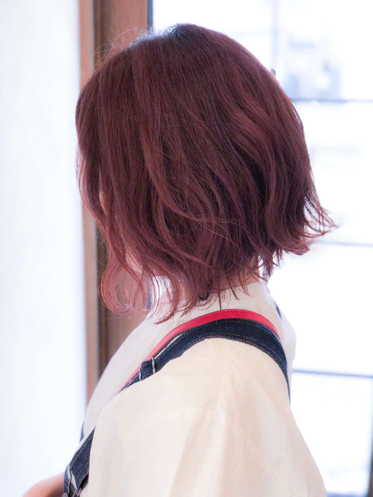 ストリート ゆるふわ ベリーピンク ヘアアレンジ ヘアスタイルや髪型の写真・画像